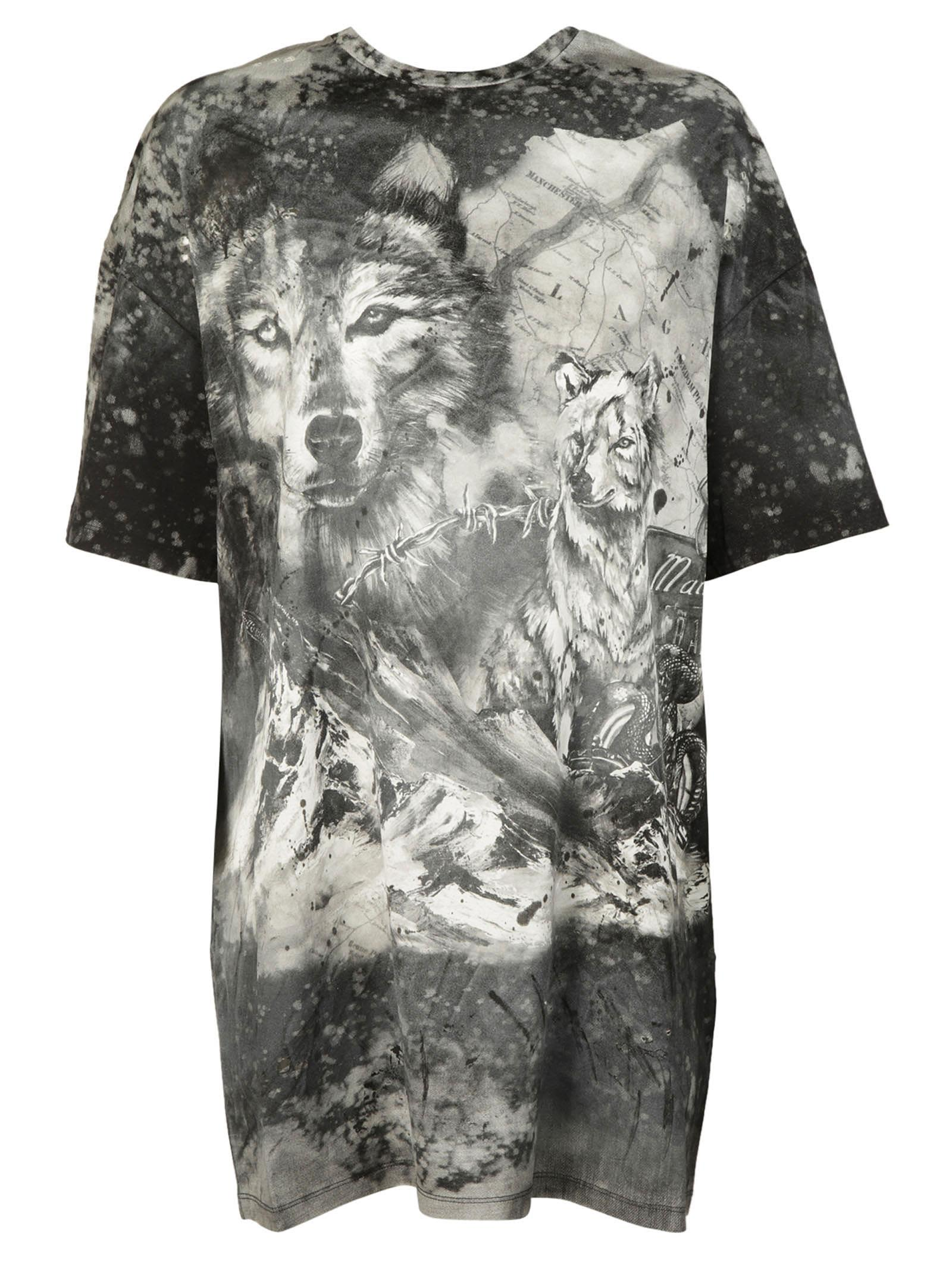 wolf and storm T-shirt - Grey Balmain Supply Online Clearance Fake Outlet Classic Free Shipping Many Kinds Of Lowest Price Cheap Online 97RaK