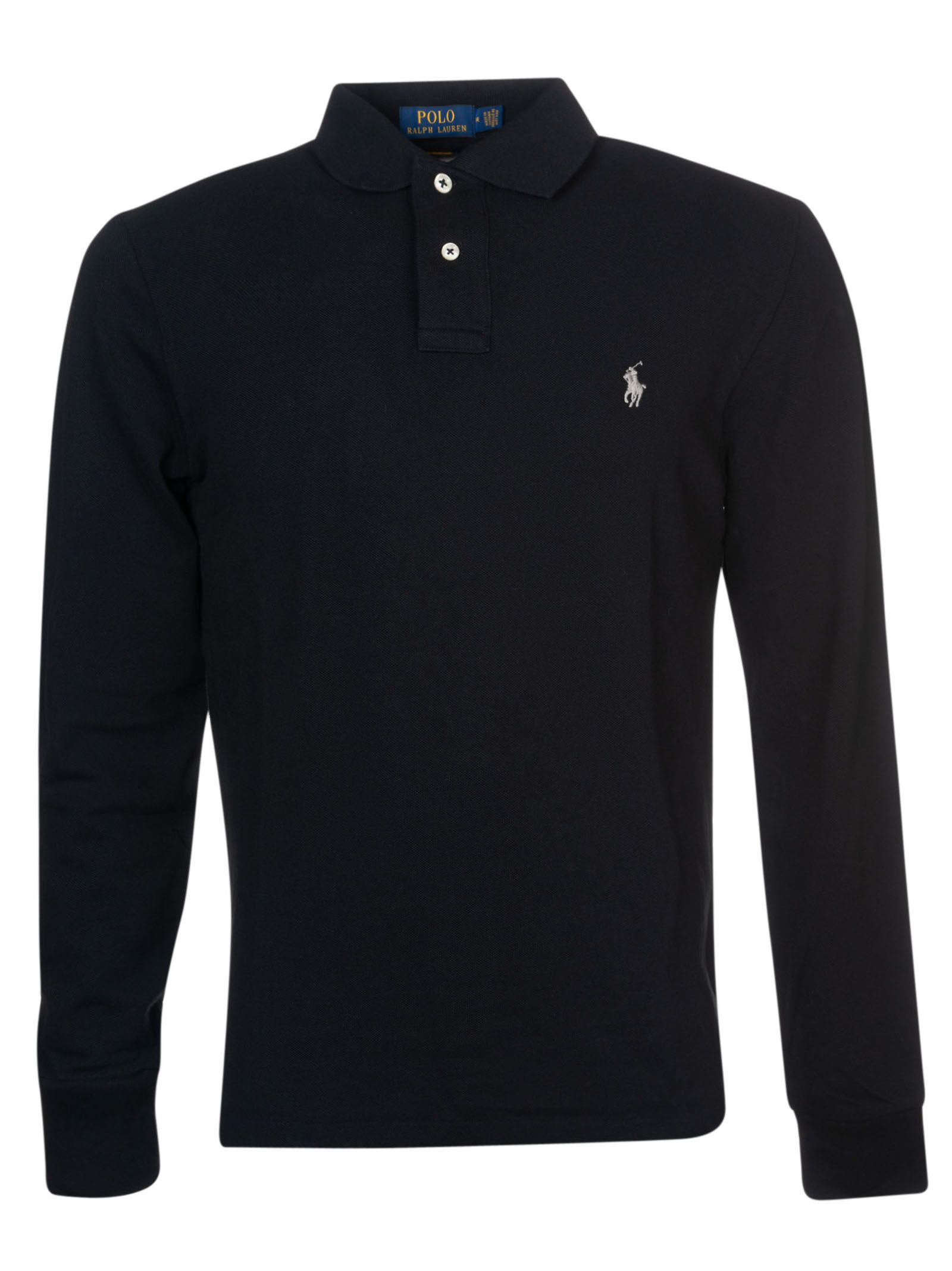 Ralph Lauren Long Sleeved Polo Shirt In Polo Black Modesens