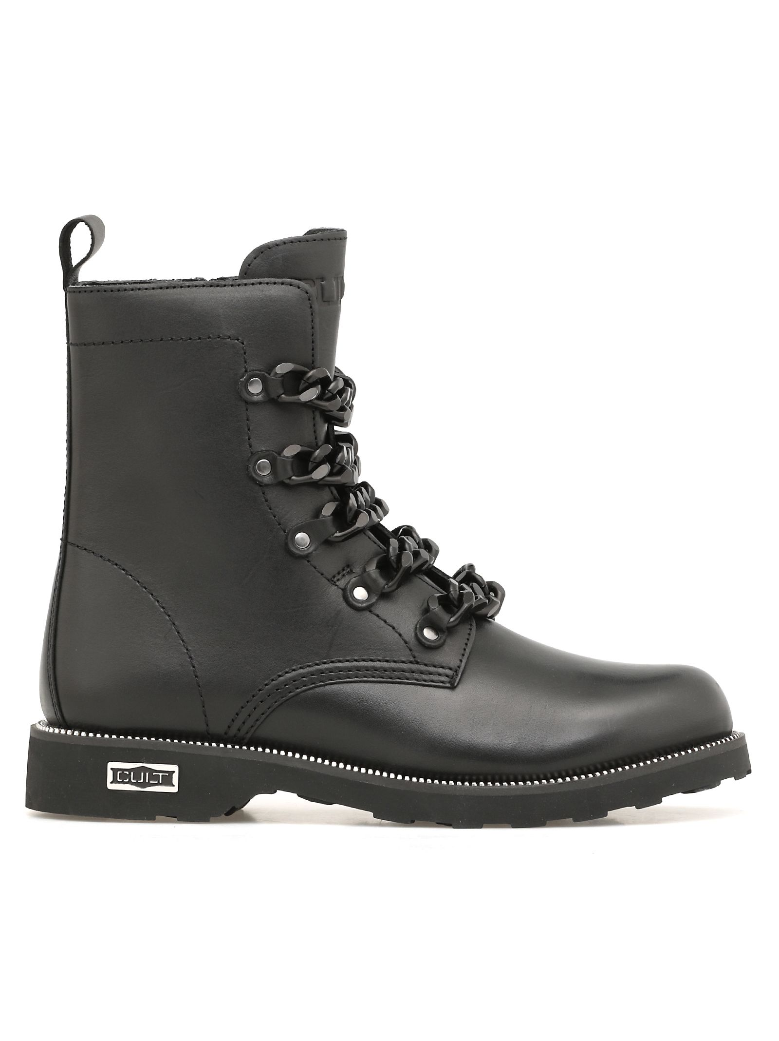 CULT Zeppelin Mid Army Boots in Black