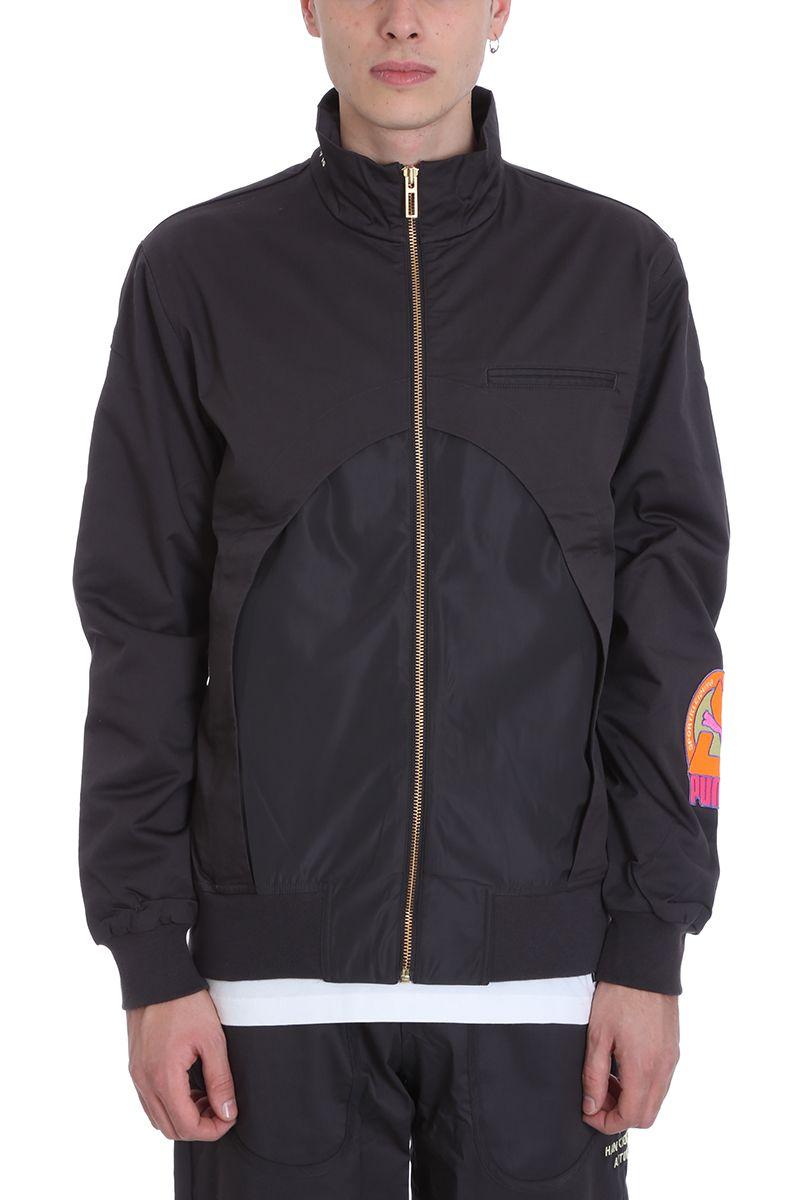 PUMA X HAN KJOBENHAVN Track Grey Cotton Jacket in Black
