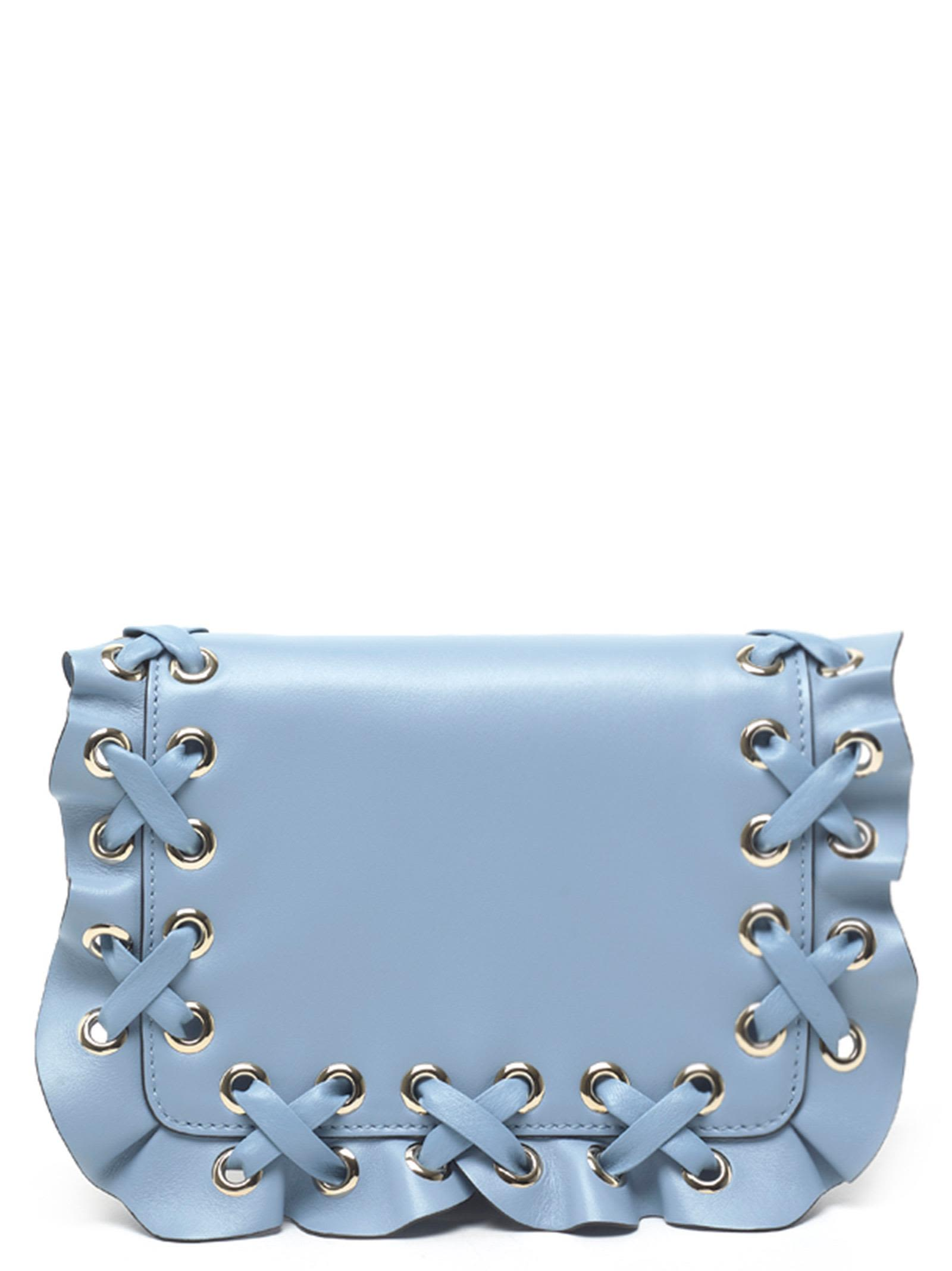 Red Valentino 'Rock Ruffle' Bag, Light Blue