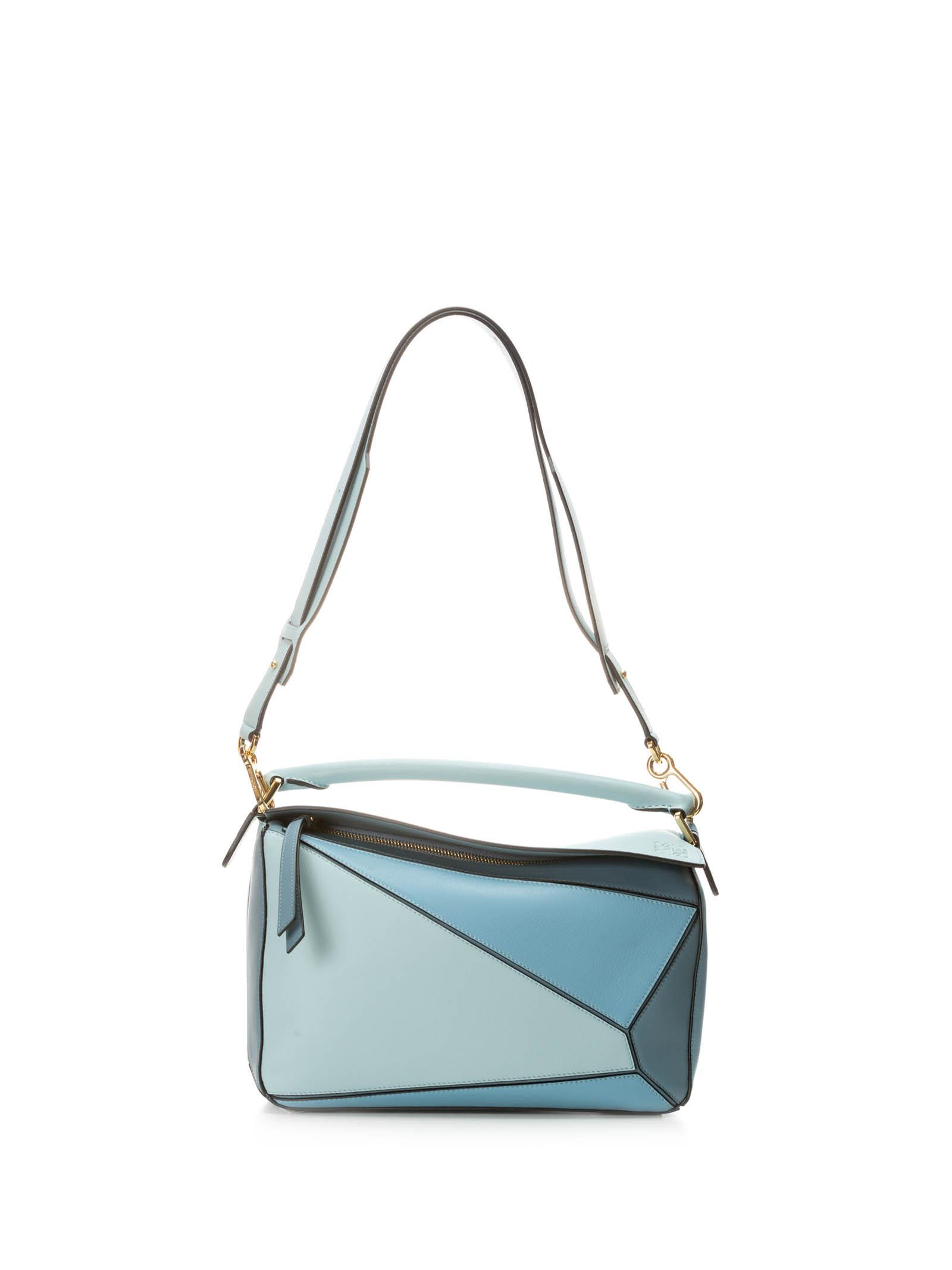 LOEWE PUZZLE BAG AQUA-LIGHT BLUE-STONE BLUE