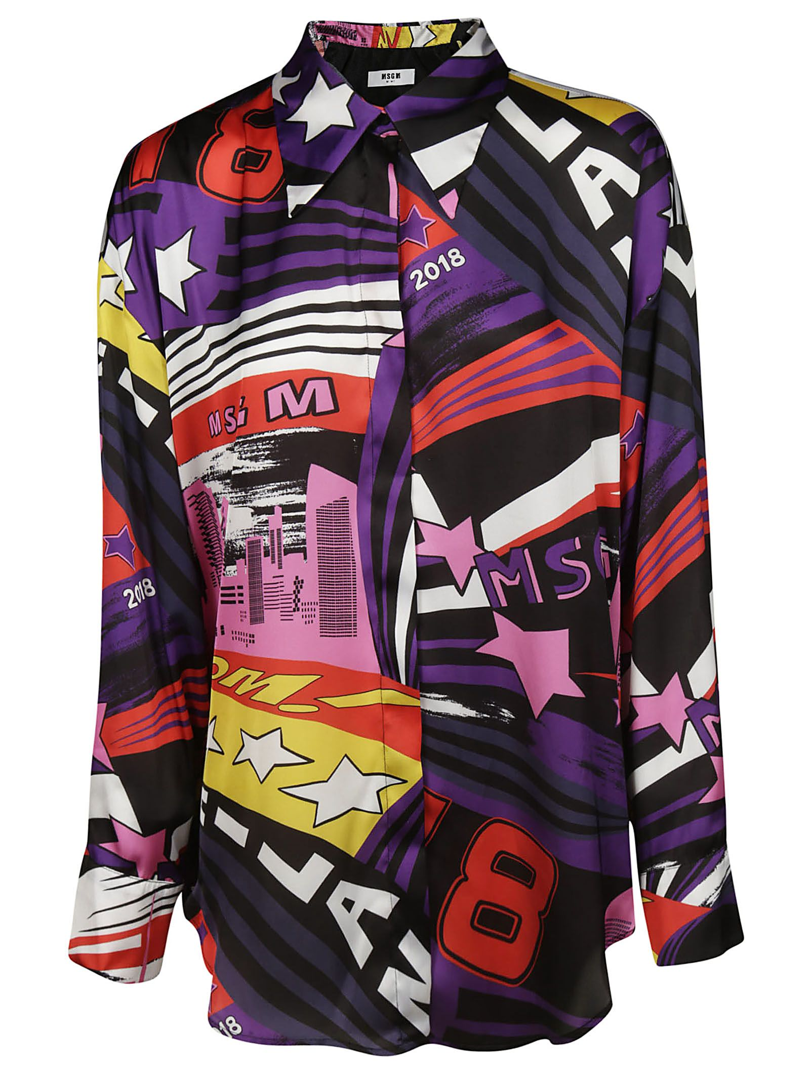 Msgm Printed Button Shirt