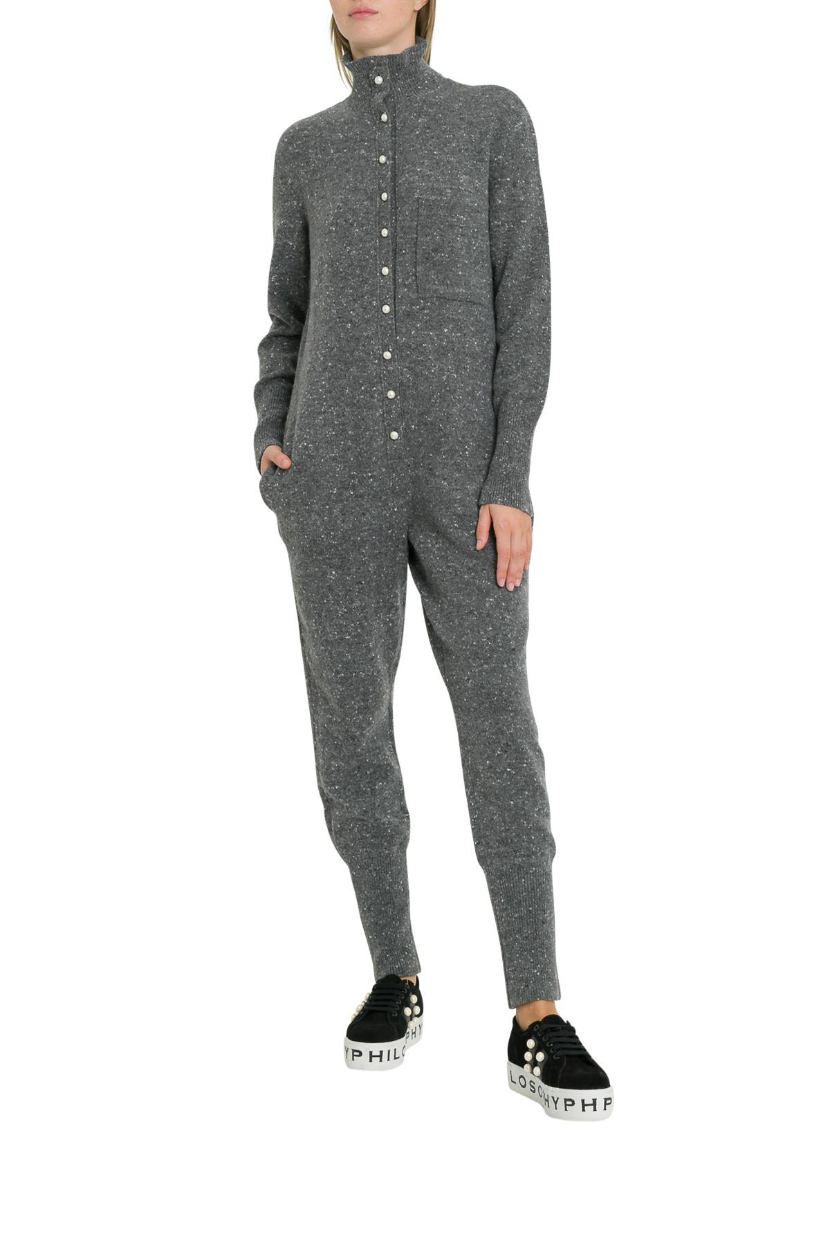 Jumpsuit With Wool And Cashmere, Grigio