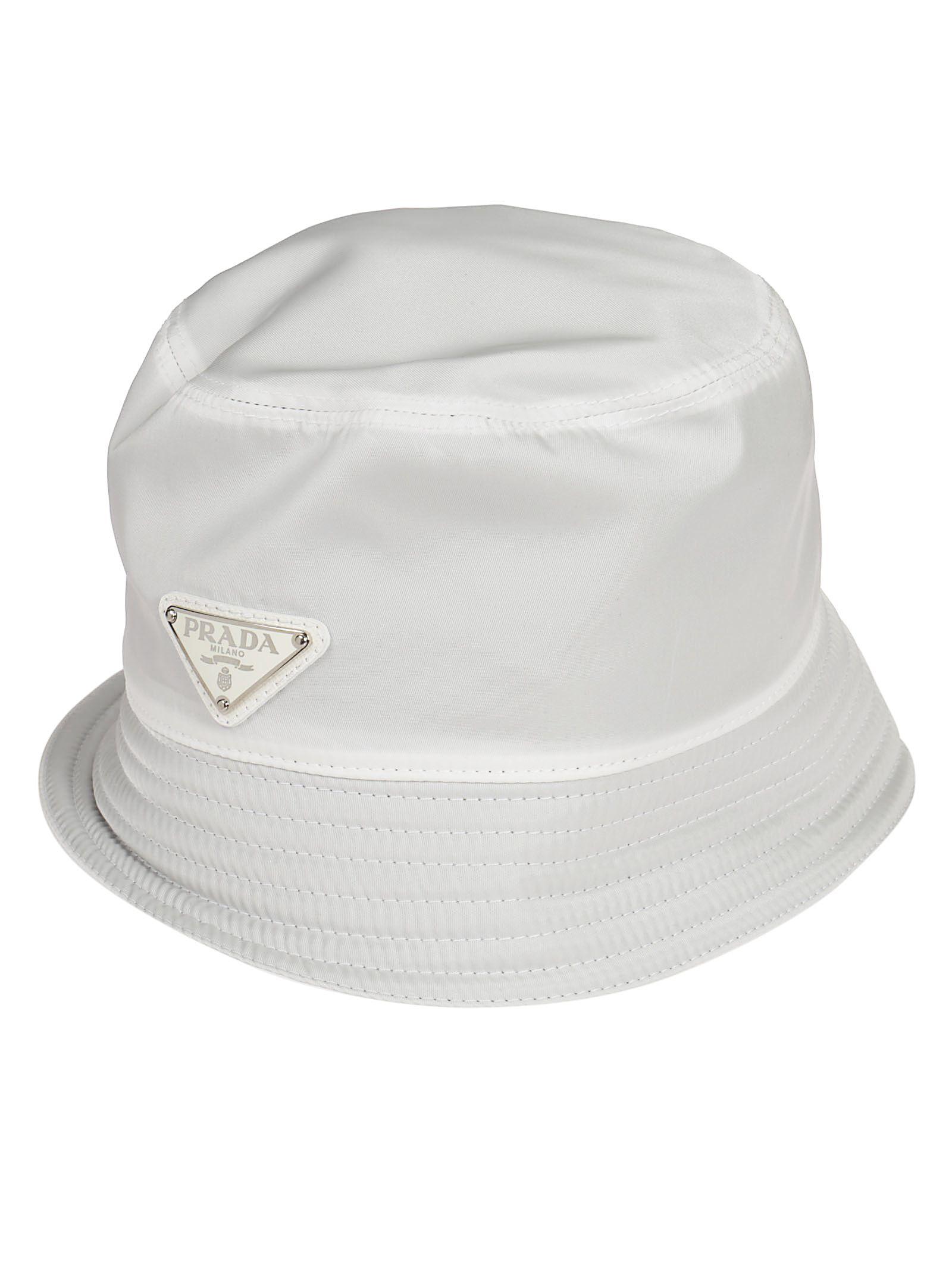 3dceeb1b710 PRADA LOGO PLAQUE RAIN HAT