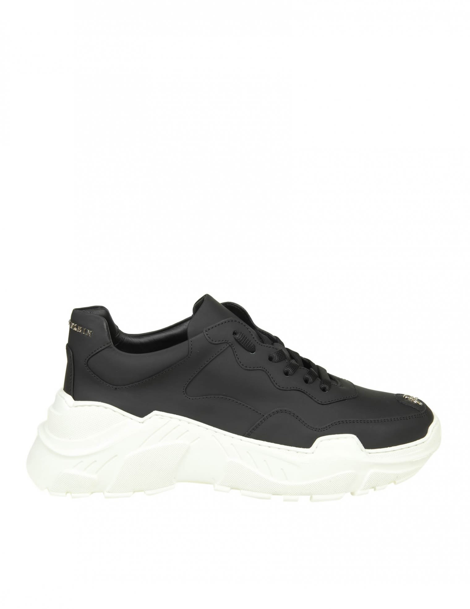 PHILIPP PLEIN SNEAKERS RUNNER ORIGINAL IN BLACK LEATHER