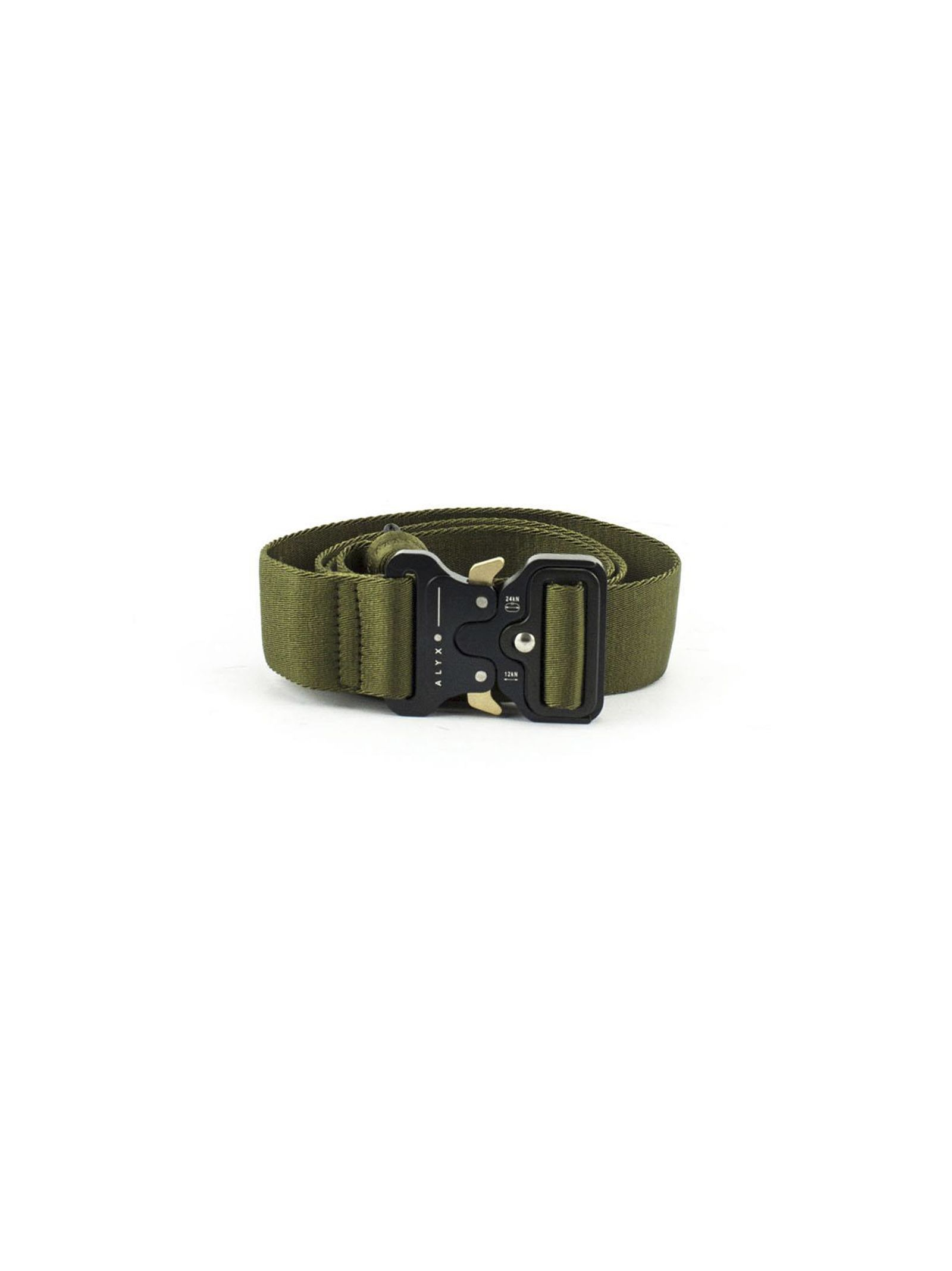 Military Green Polyester Rollercoaster Belt