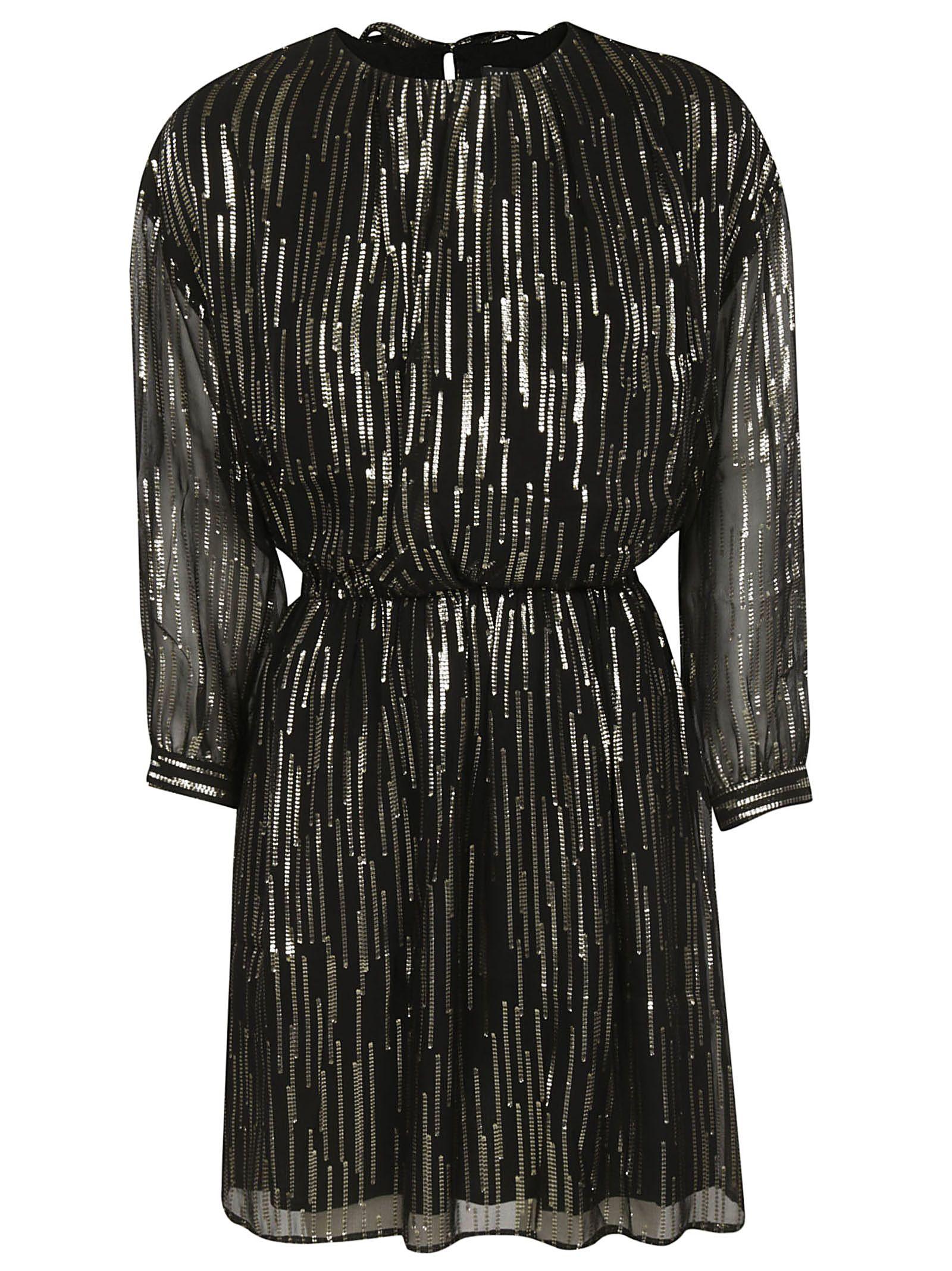 TARA JARMON Embellished Dress in Noir