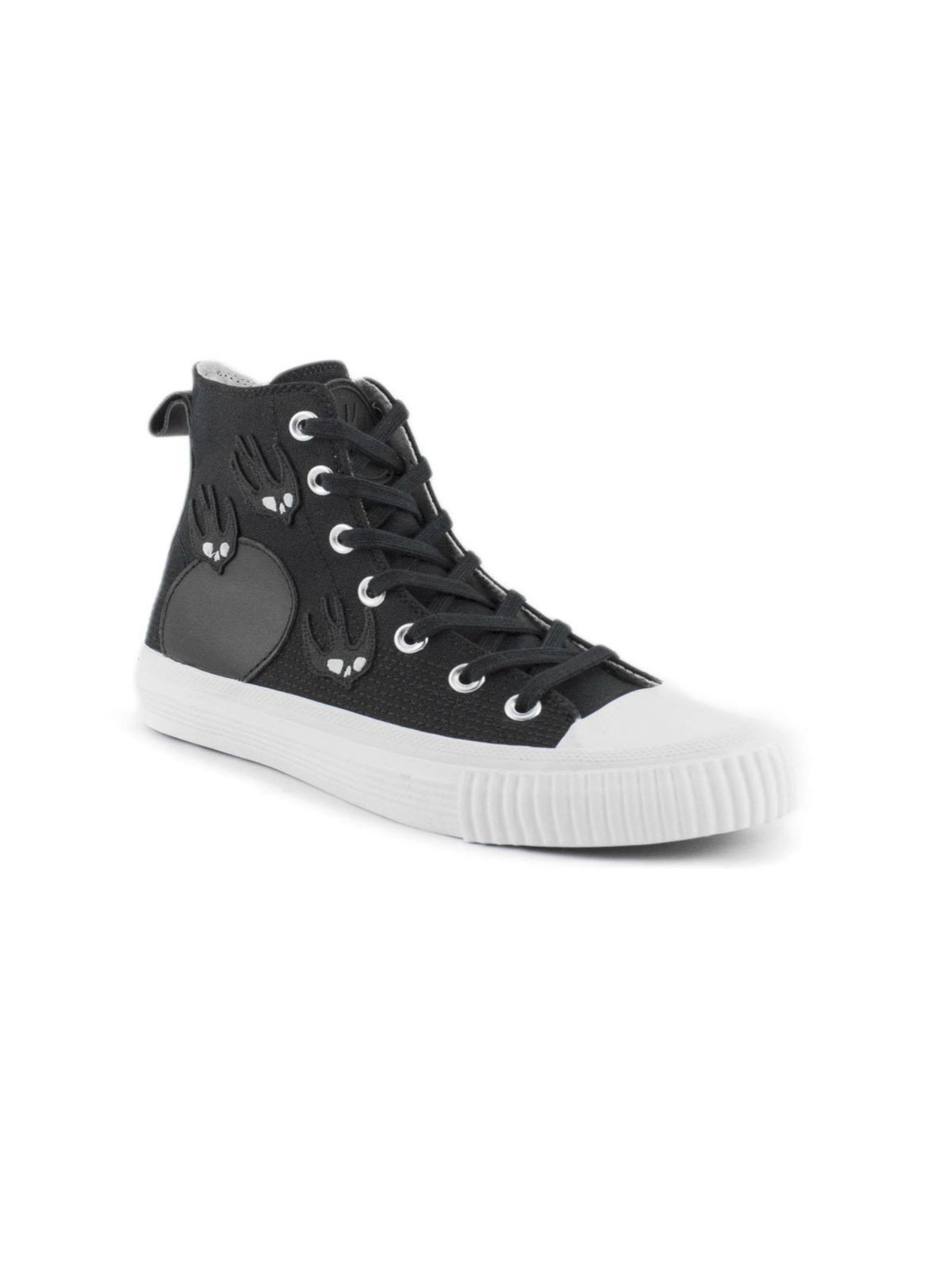 Alexander McQueen Black Leather And Cotton High-top Sneakers Reliable Cheap Price Free Shipping Sneakernews oafKKRO7