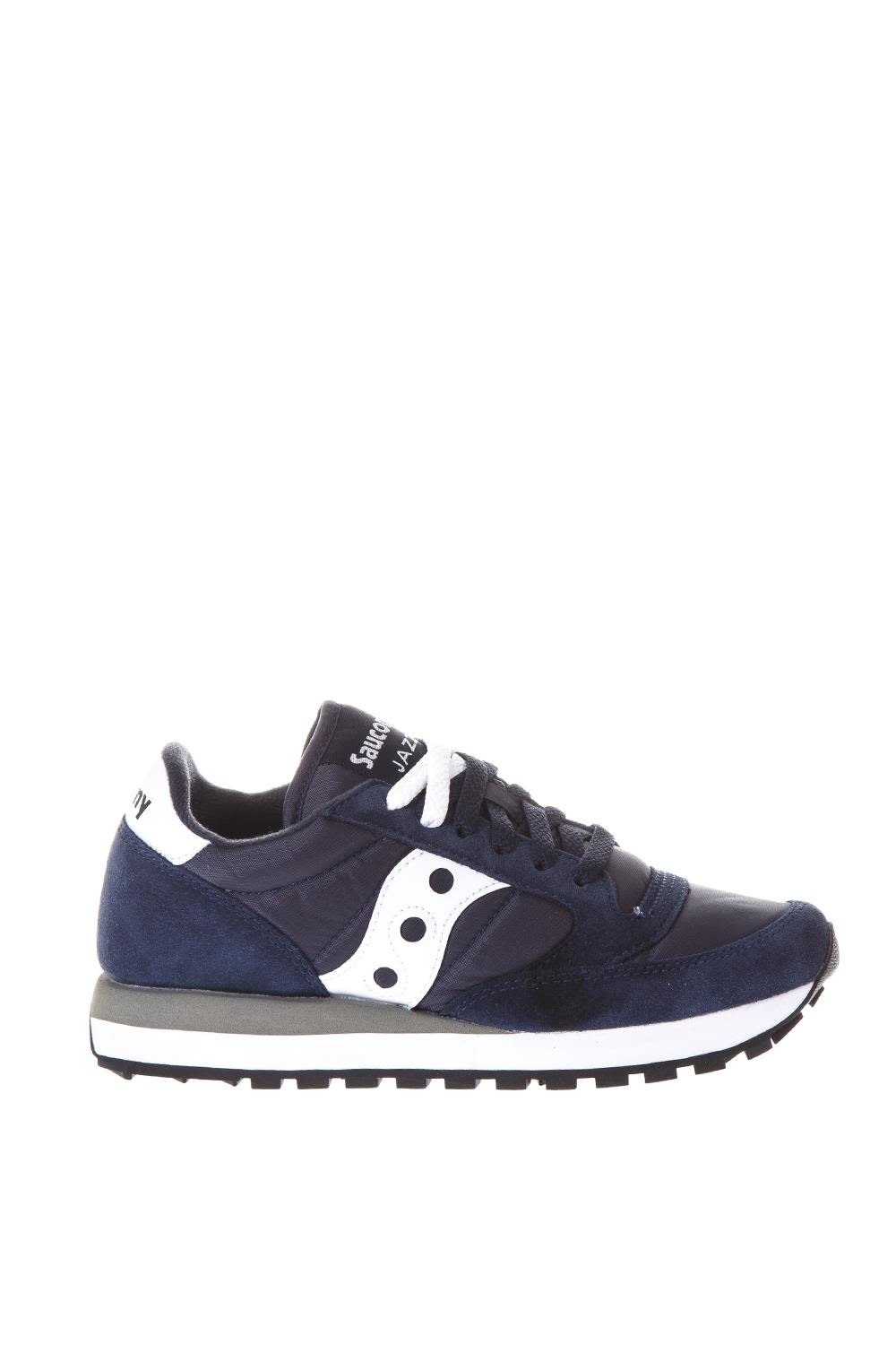 SAUCONY JAZZ NAVY COLOR NYLON & SUEDE SNEAKERS