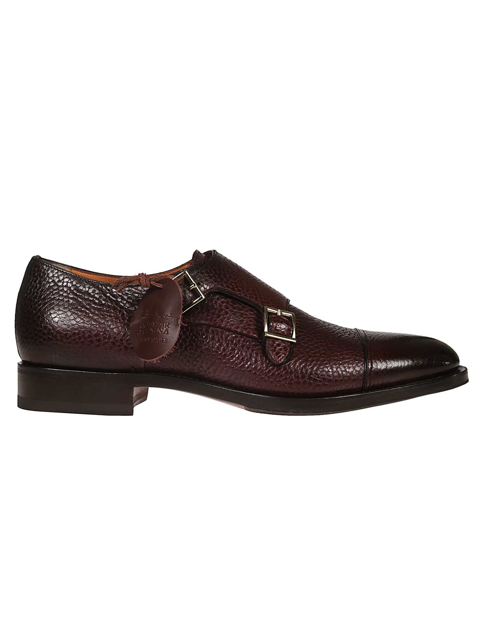 SANTONI BUCKLED MONK SHOES