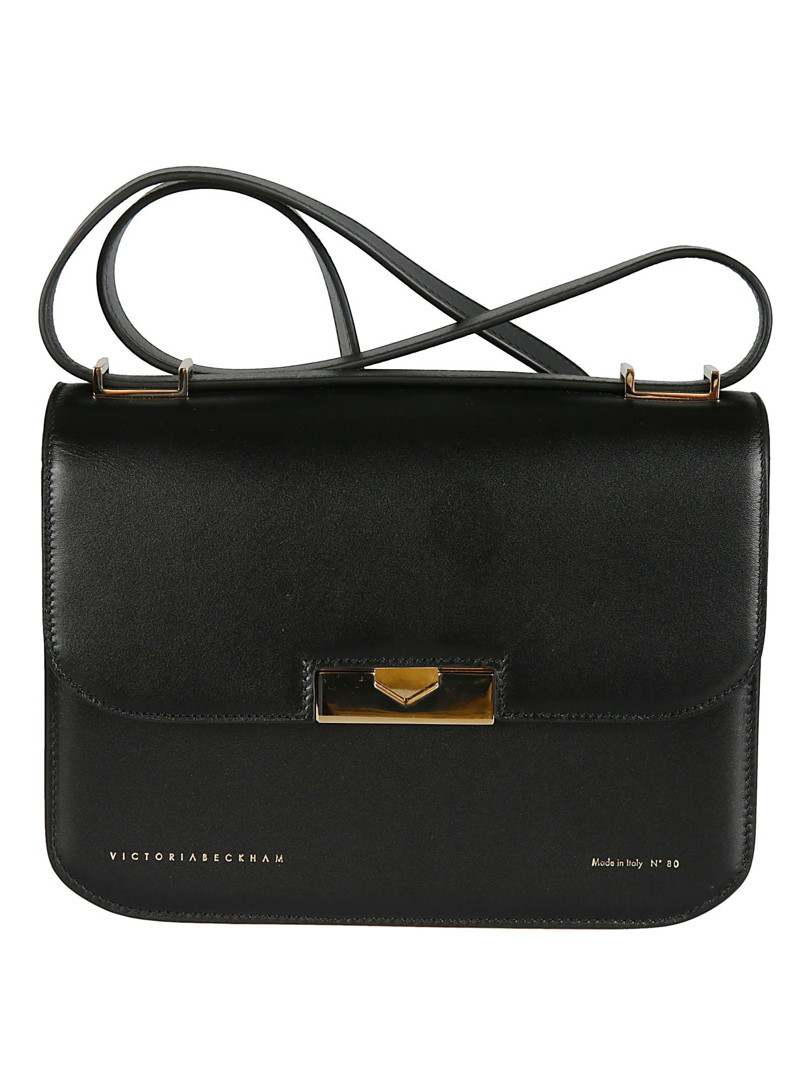 Eva Foldover Shoulder Bag, Black