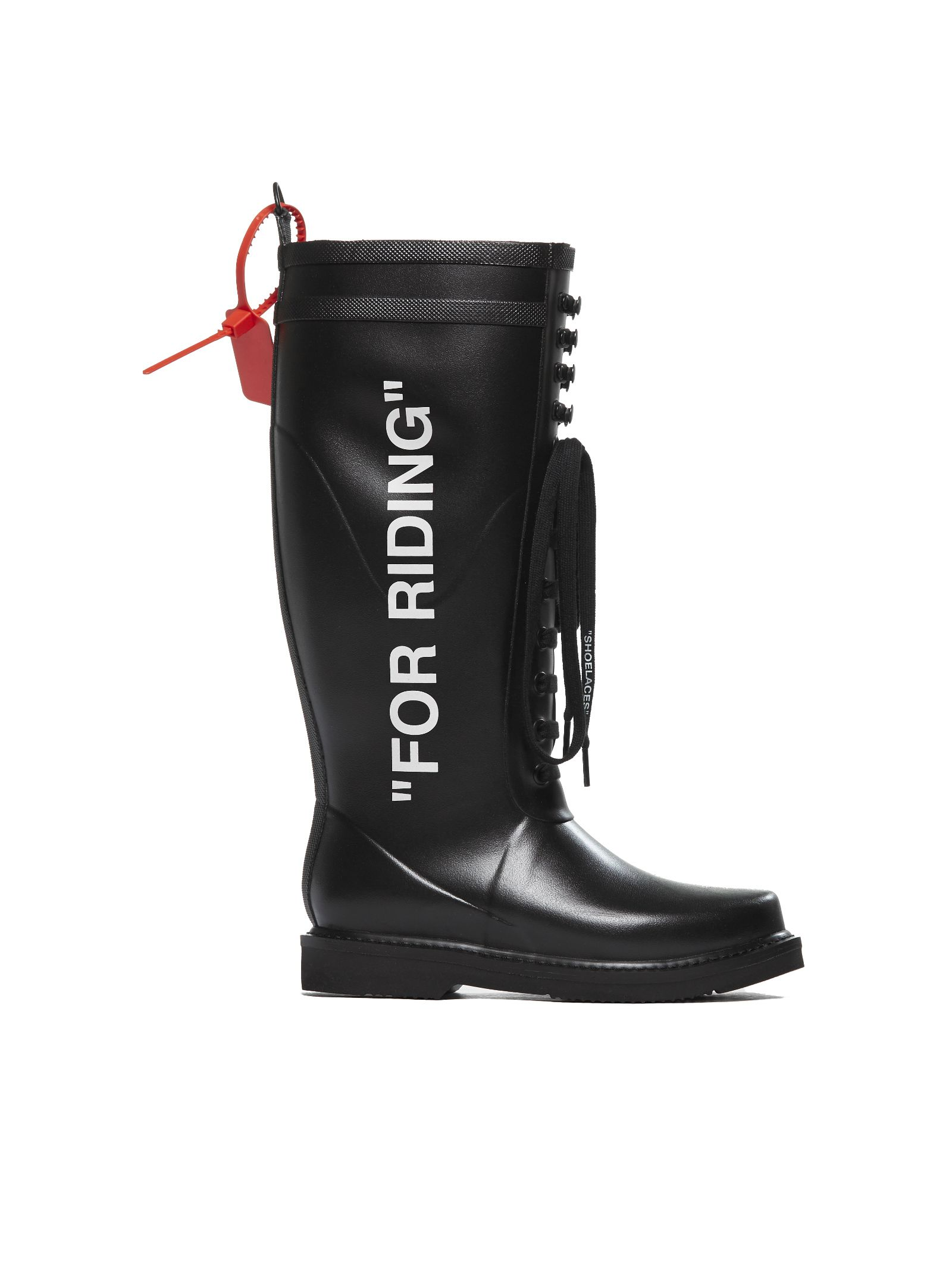 Off-white Wellington Lace Up Boots