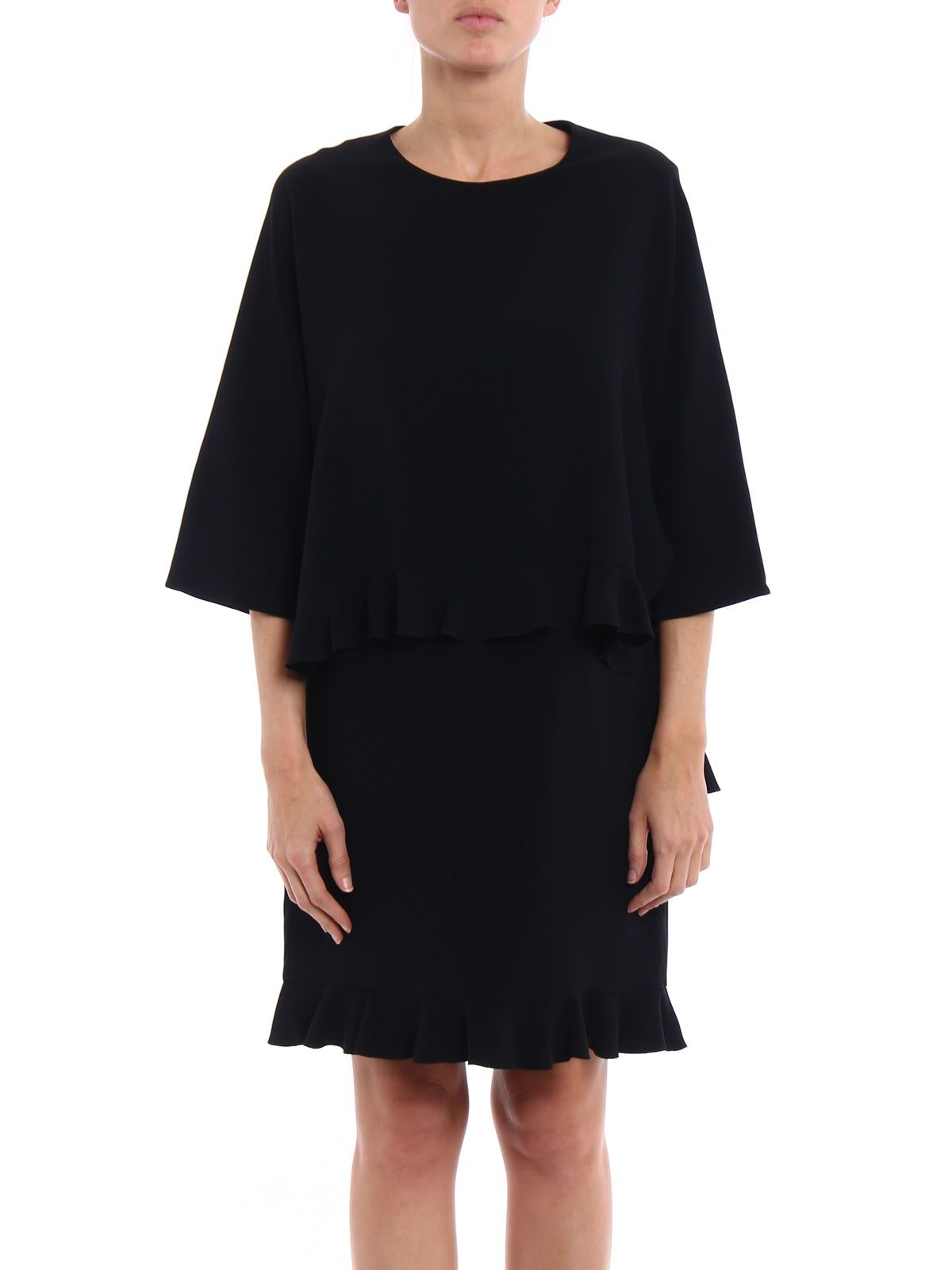 ruffle trimmed dress - Black Stella McCartney OHATagI