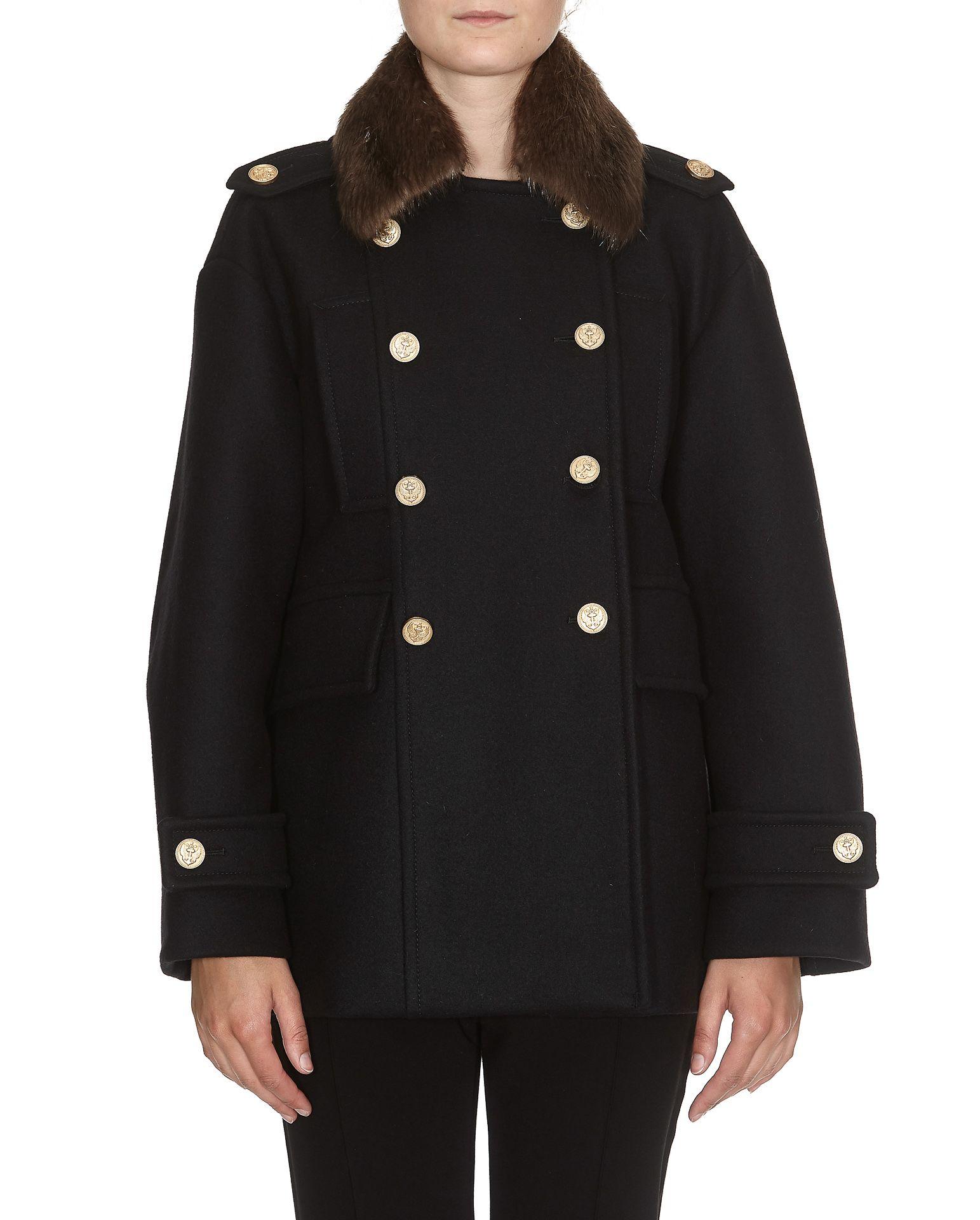 Red Valentino Fur Collar Coat