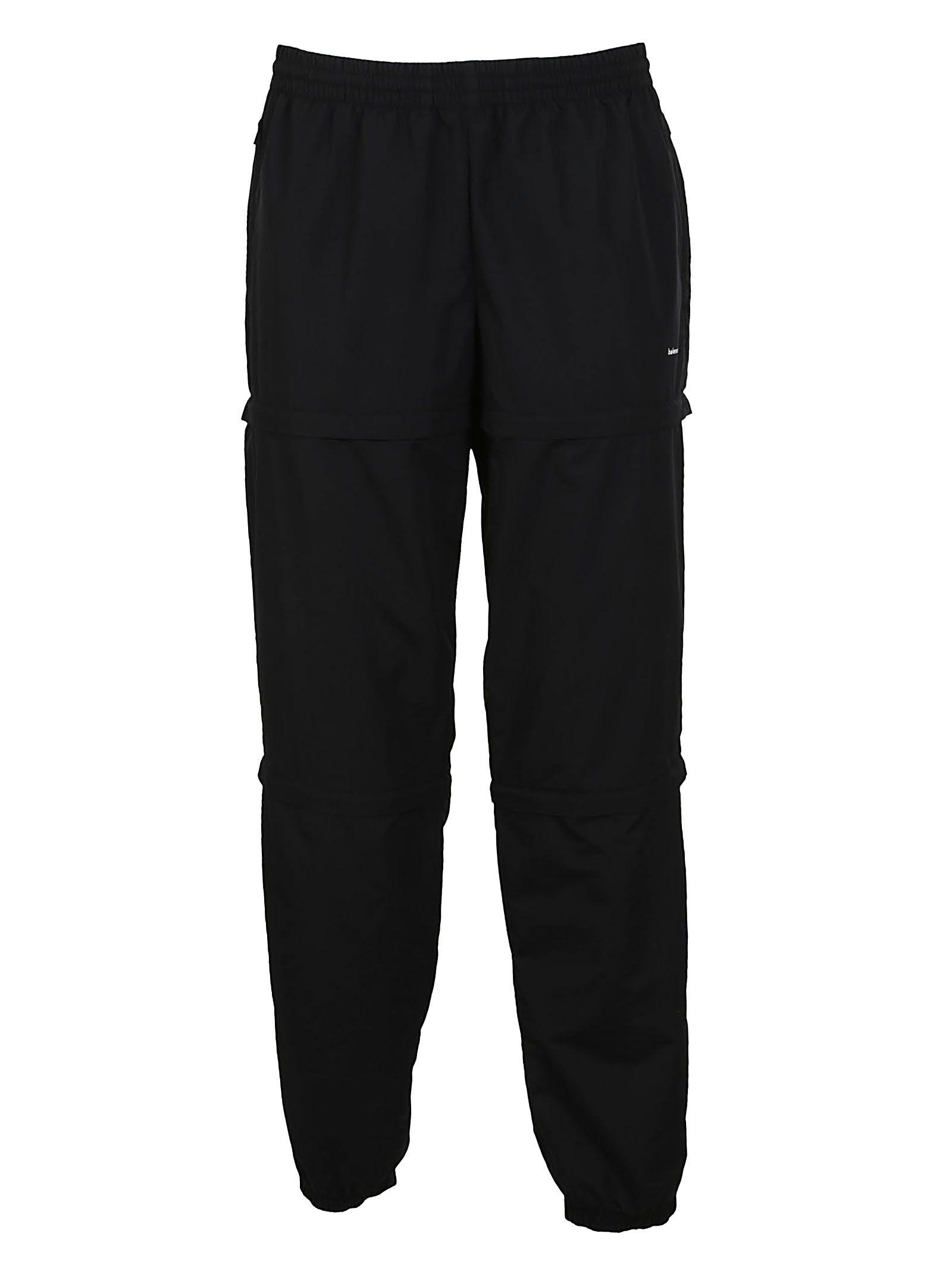 9fdeb6b9888c Balenciaga Elasticated-Waist Detachable-Panel Trousers In Black