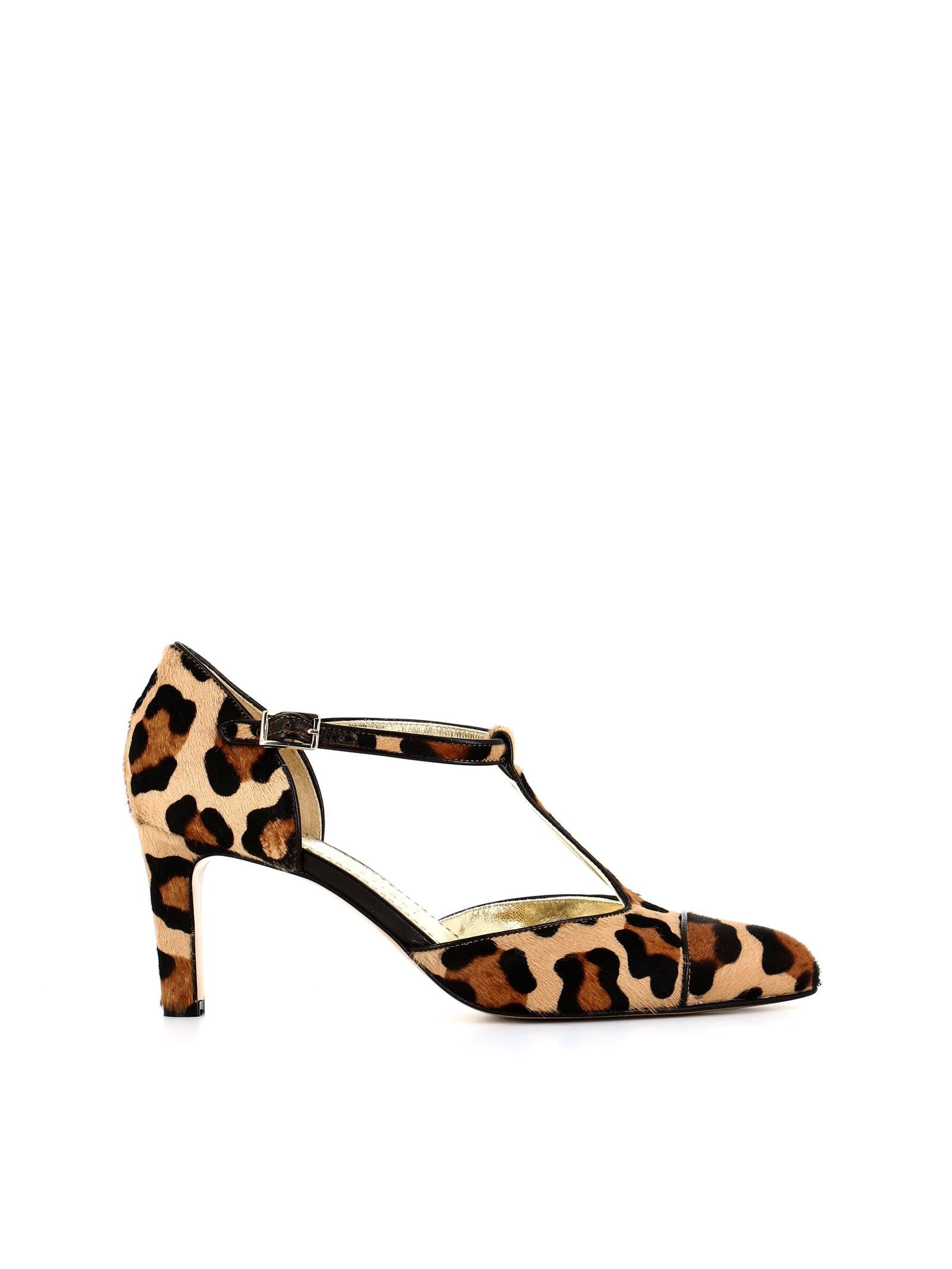 ANTONIO BARBATO Leopard Print Pumps in Brown