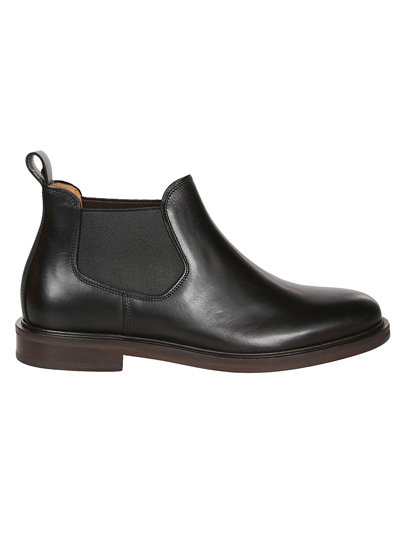 A.P.C. Classic Chelsea Boots in Black
