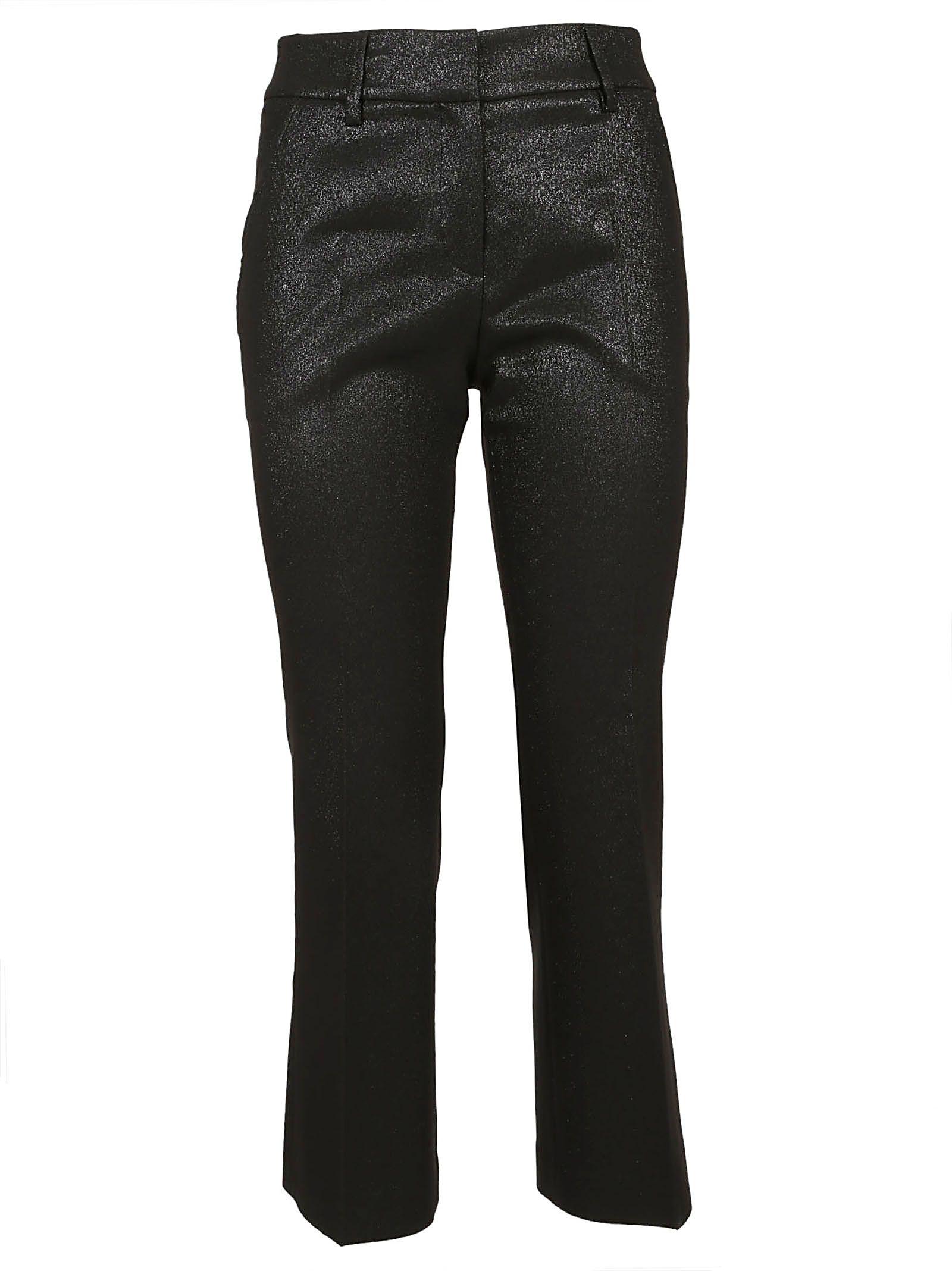 TRUE ROYAL Glittered Trousers in Nero