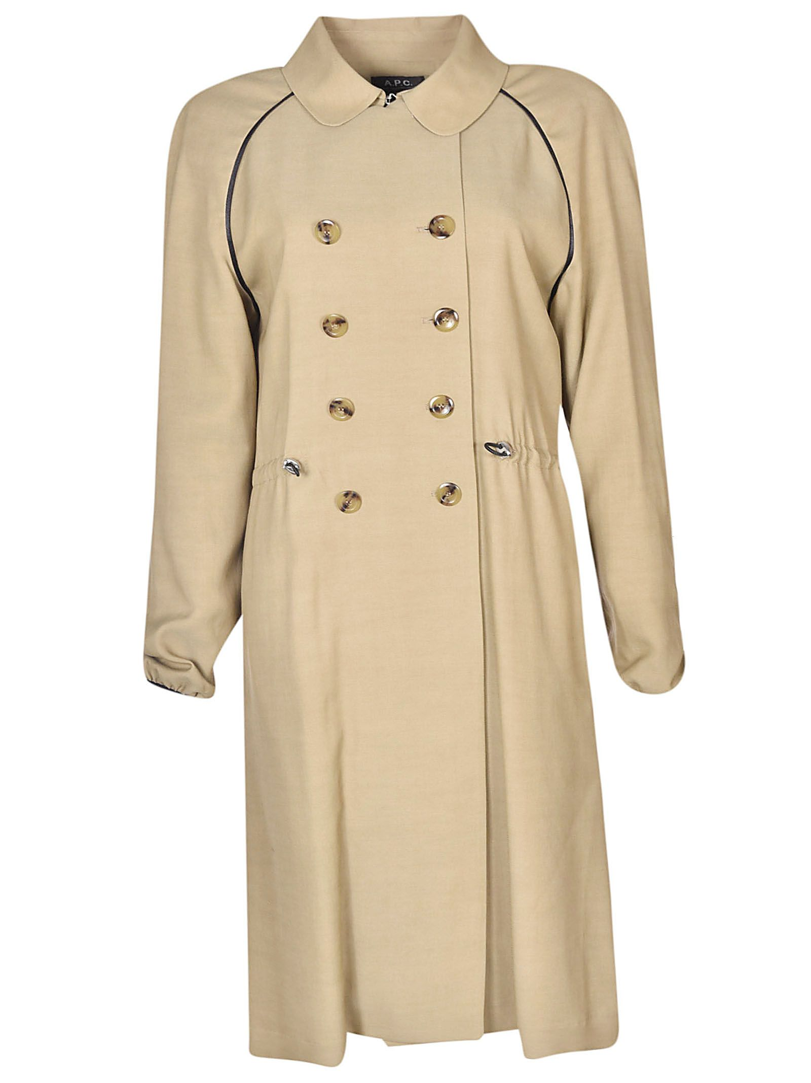 A.p.c. Double Breasted Trench Coat