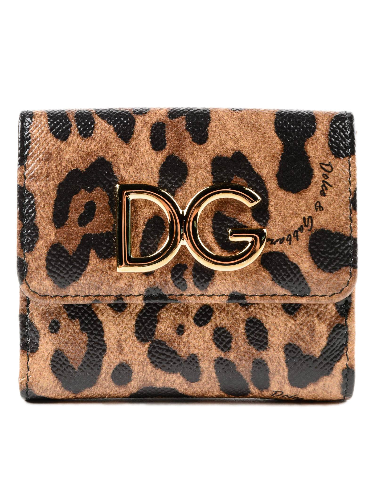 DOLCE & GABBANA DAUPHINE ST. LEO FRENCH FLAP WALLET