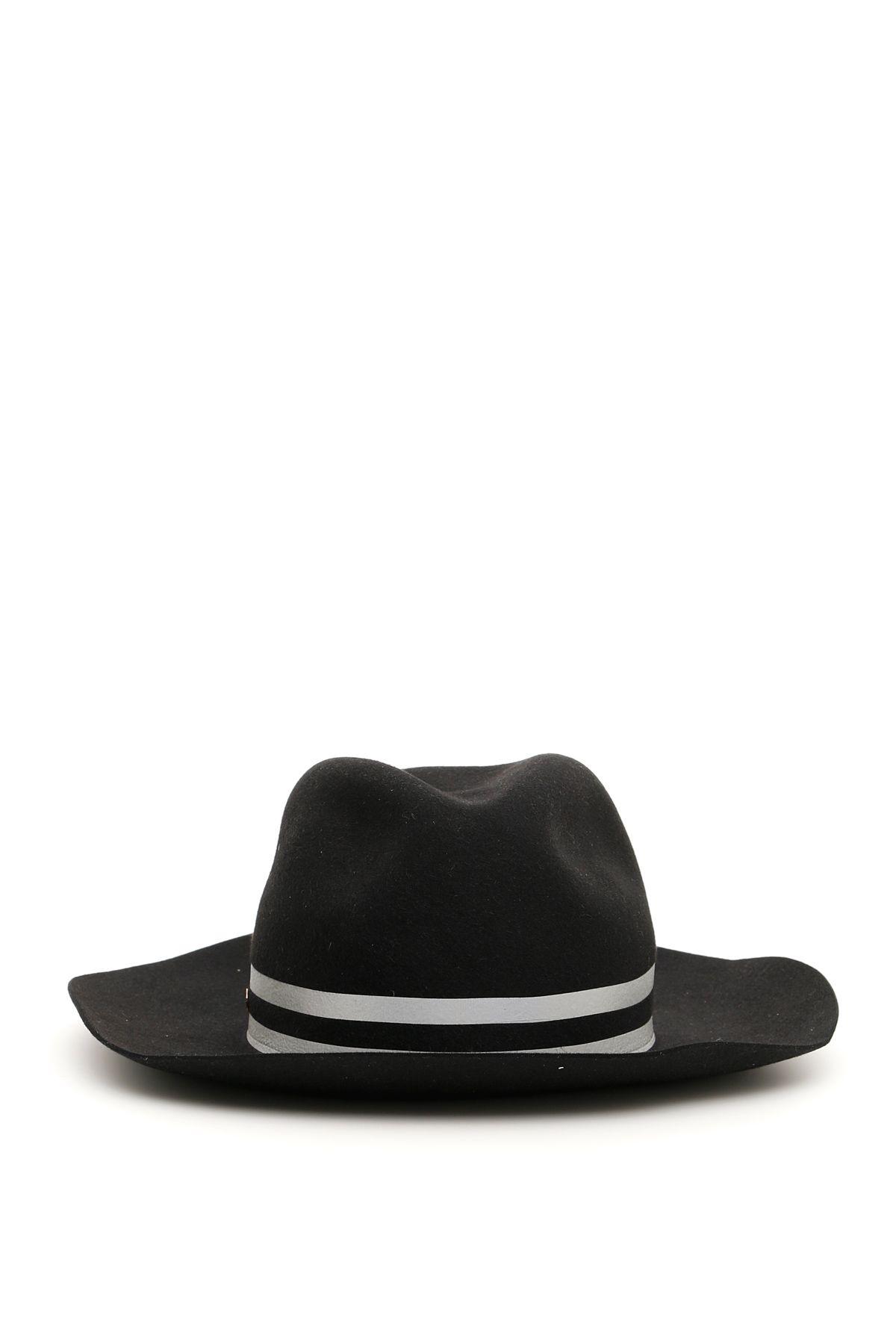 FLAPPER Melisa Wide-Brim Hat in Black