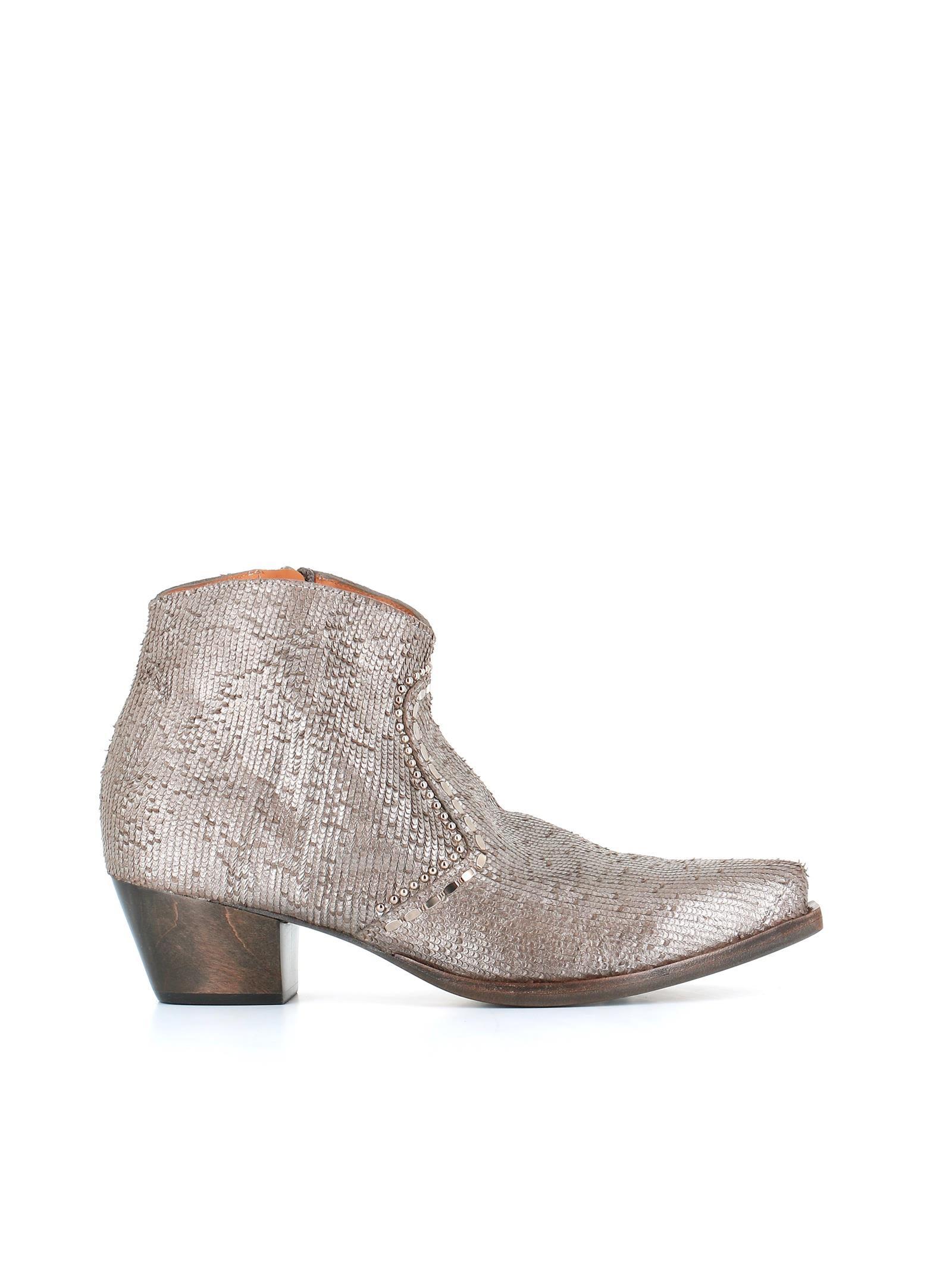 "CALLEEN CORDERO Ankle Boot ""Zima"" in Silver"