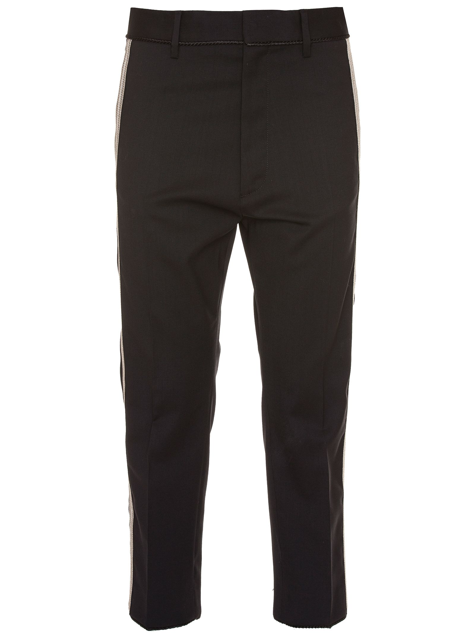 BLACK WOOL PANTS from Italist.com