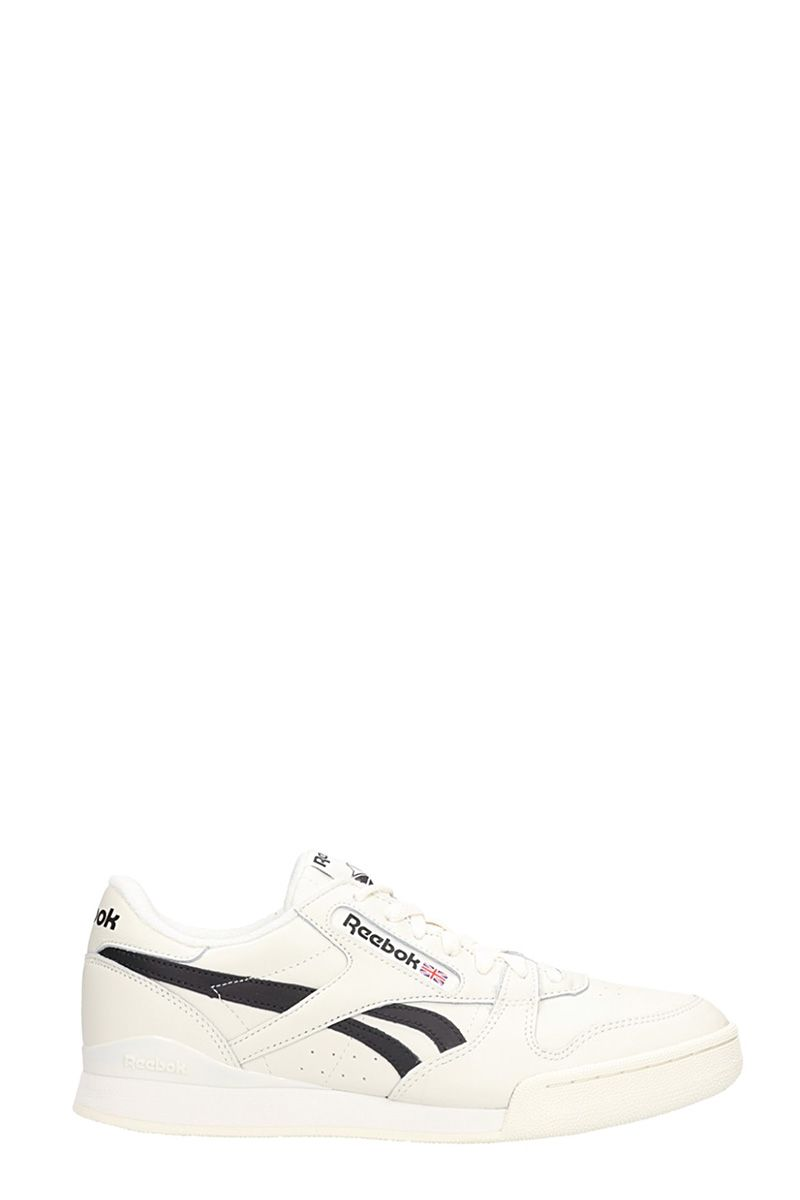 Reebok WHITE LEATHER PHASE 1 PRO LOW-TOP SNEAKERS