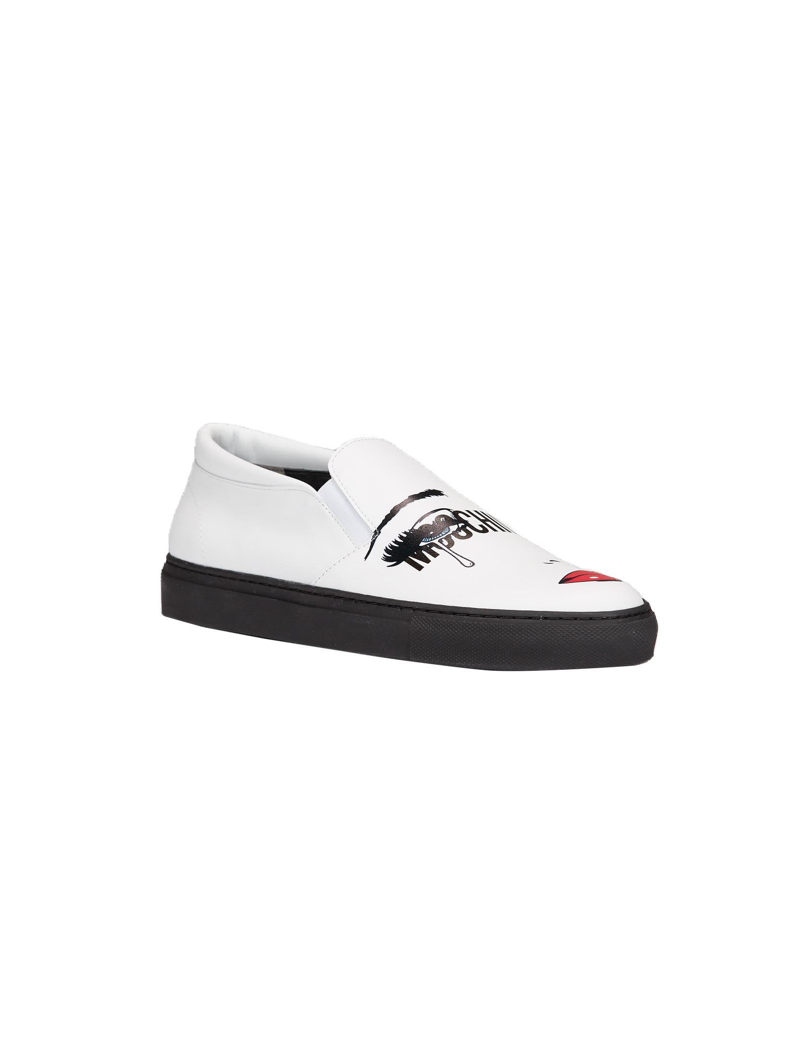 pop art print slip-on sneakers - White Moschino liWUc