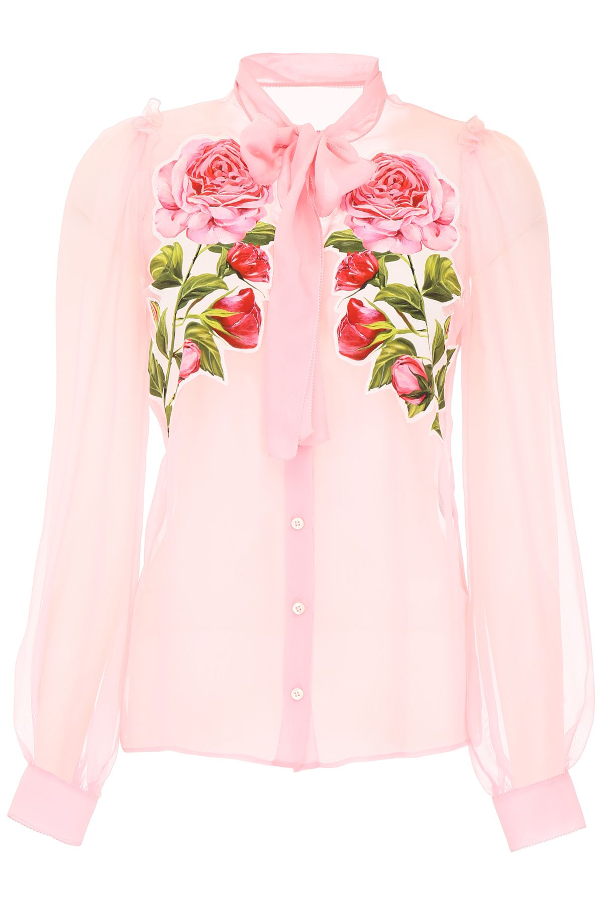 SHIRT WITH ROSE PATCHES