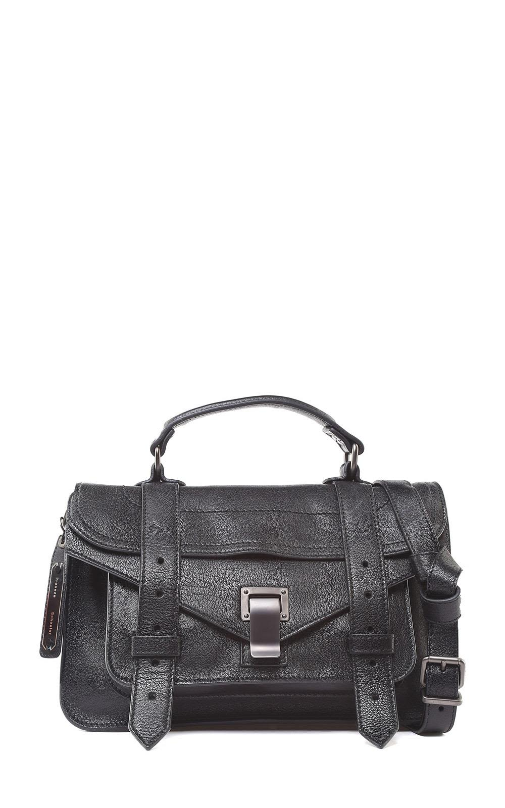 Proenza Schouler Ps1+Tiny Leather Shoulder Bag In Nero   ModeSens 679a09e633