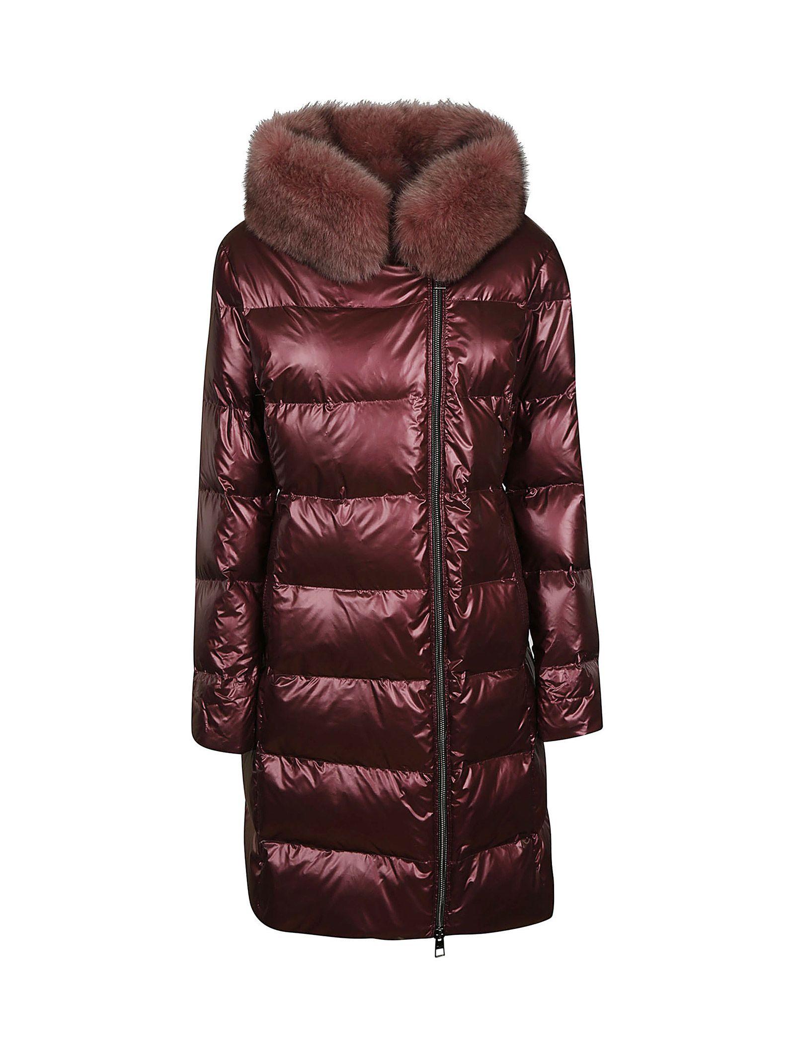 VIOLANTI Zip-Up Padded Jacket in Red