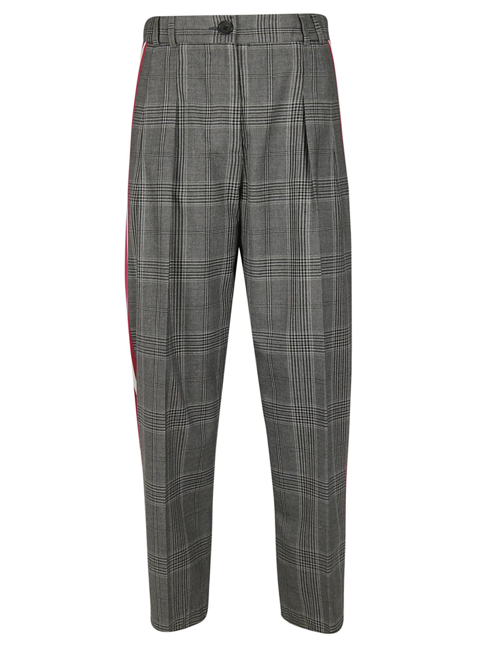 TARA JARMON Patterned Trousers in Grischinecl