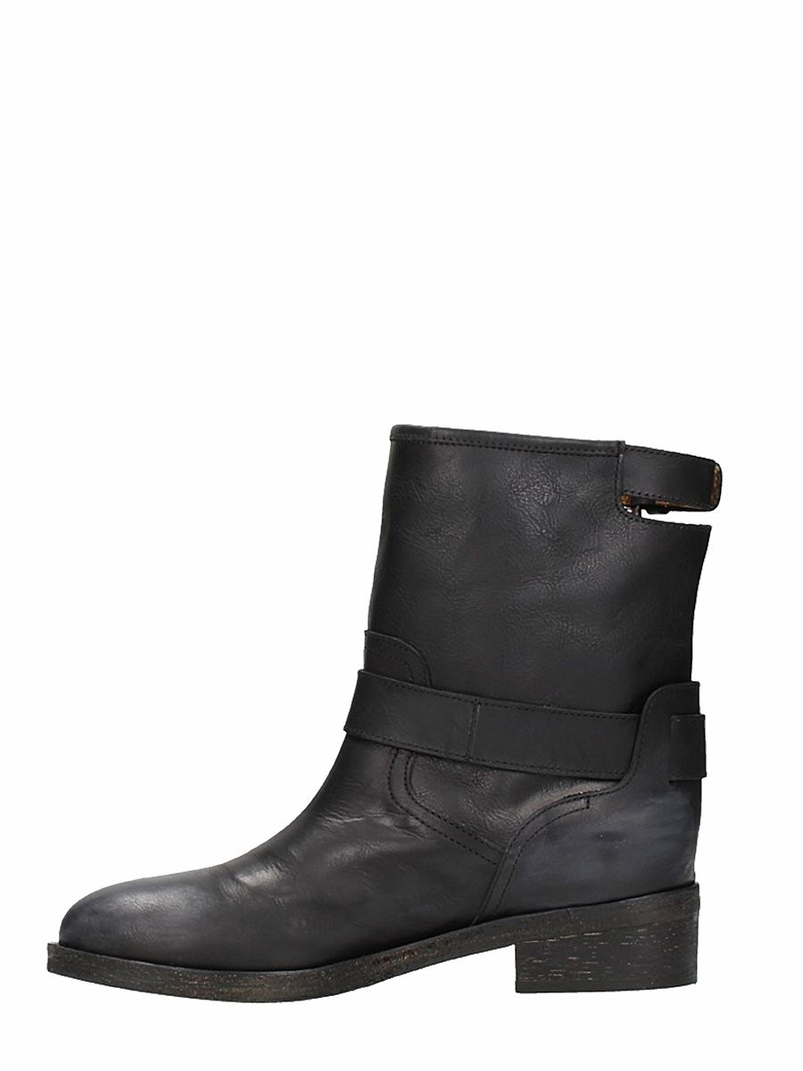 Free Shipping Get To Buy Via Roma Leather Biker Boots Good Selling Cheap Price MUfjcFlIb