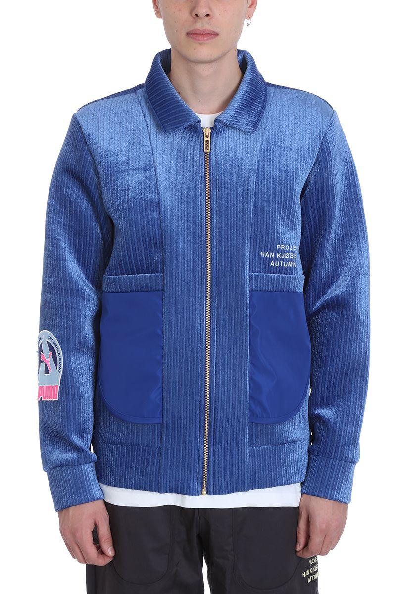 PUMA X HAN KJOBENHAVN Blue Wool Jacket