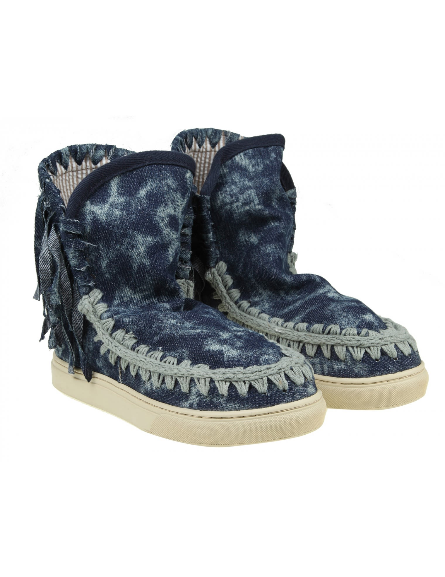 Online Cheapest  Blue Summer Eskimo Fringed sneakers Mou Clearance With Credit Card Outlet 2018 Newest VUAfNLoJt