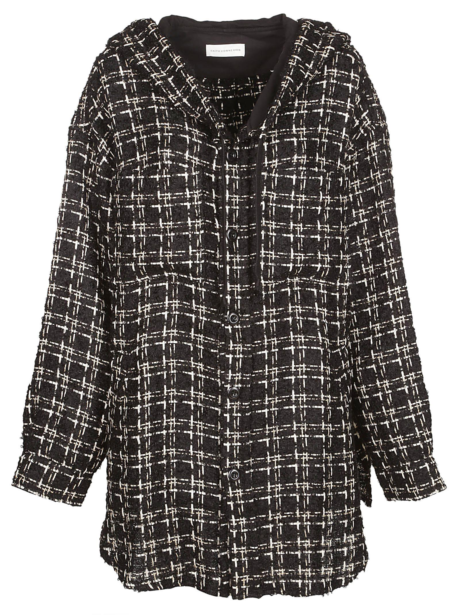 Faith Connexion HOODED TWEED COAT