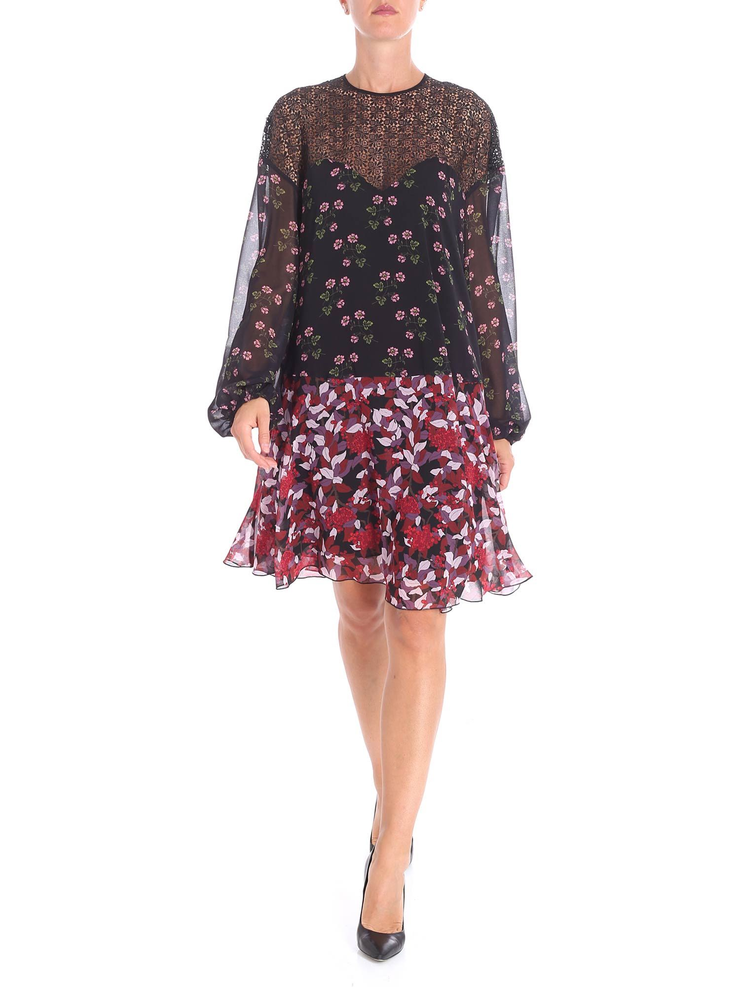 GIAMBA Floral Print Dress in Black