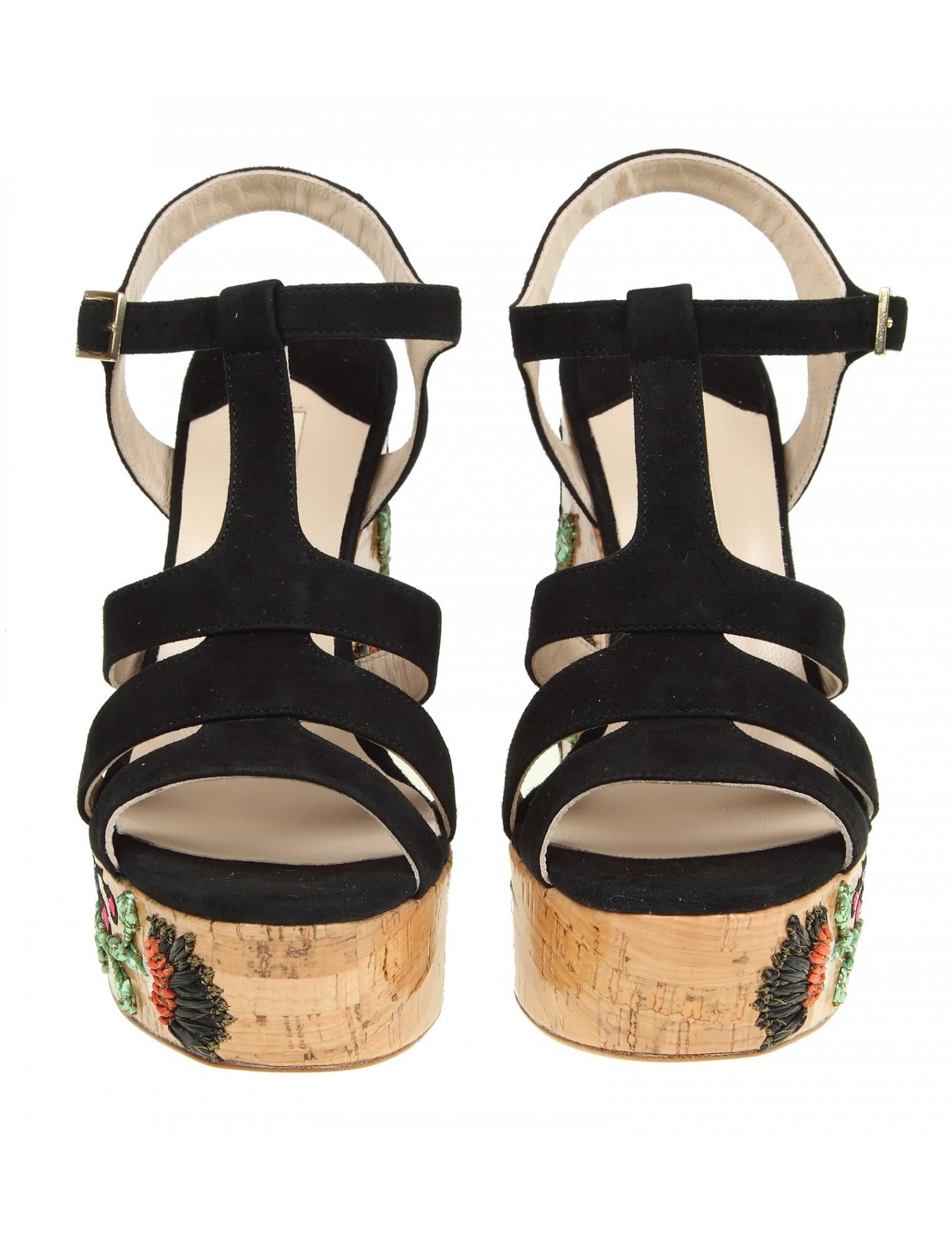 Black Lantana sandals Paloma Barcel�� BH8zXEvx