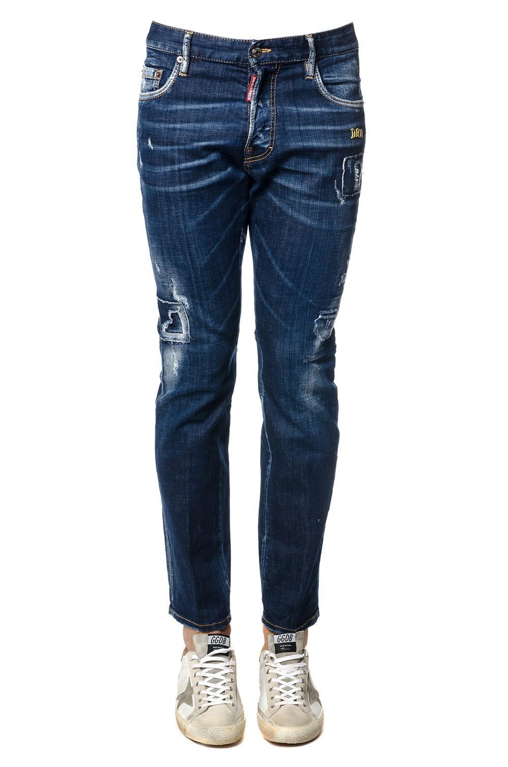 Dsquared2 City Biker Blu Denim Jeans 10470954