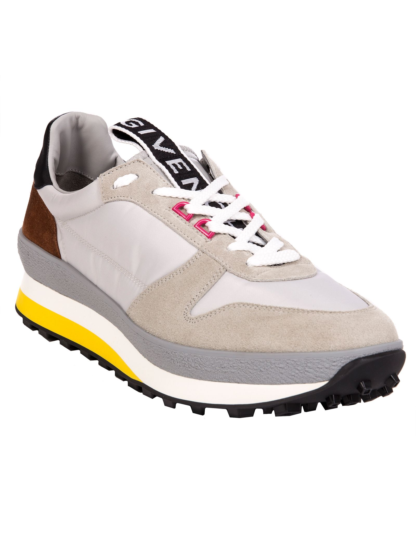 GIVENCHY T3 RUNNER SNEAKERS IN GREY AND YELLOW