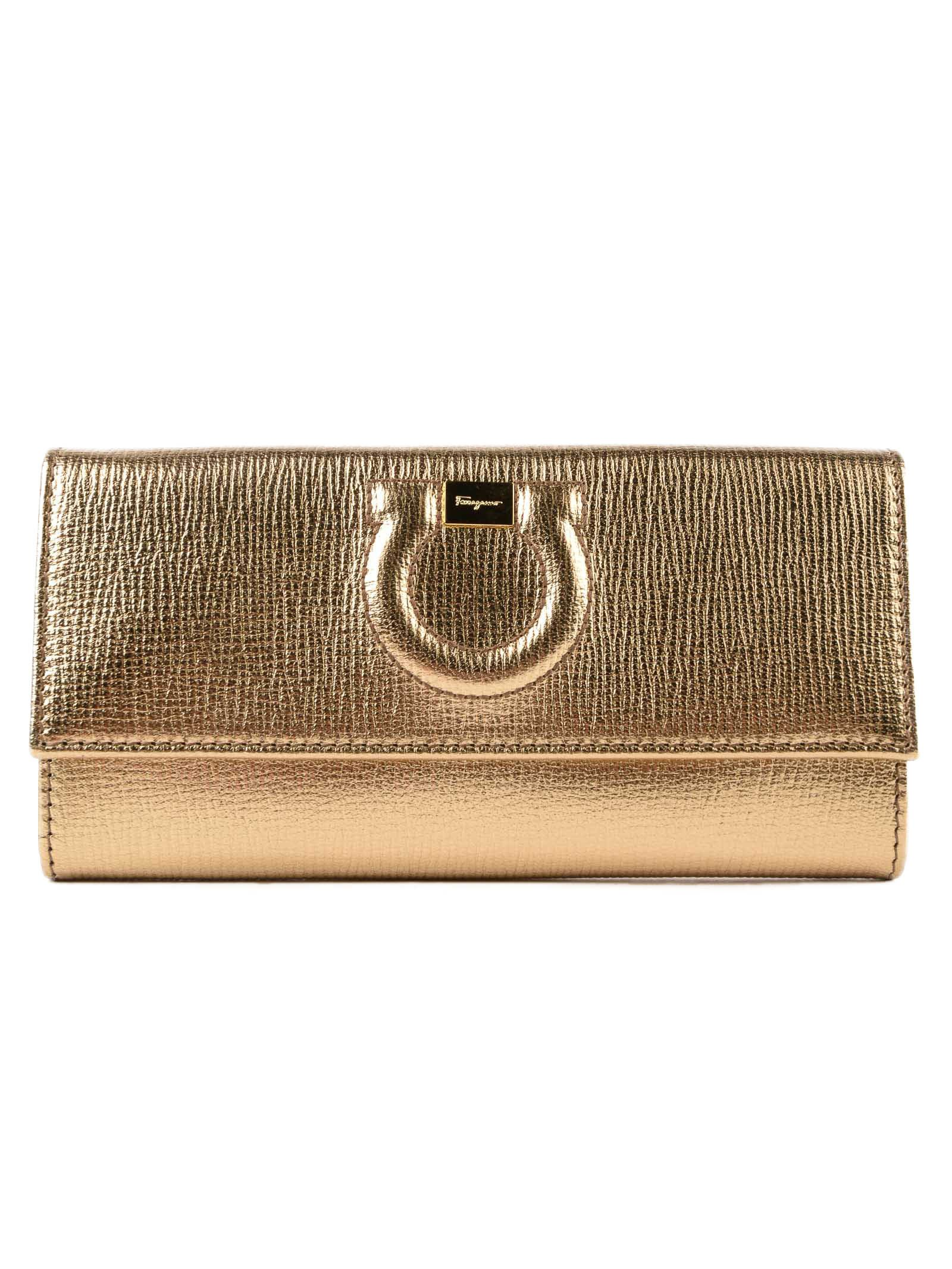 Salvatore Ferragamo Gancio City Continental Wallet
