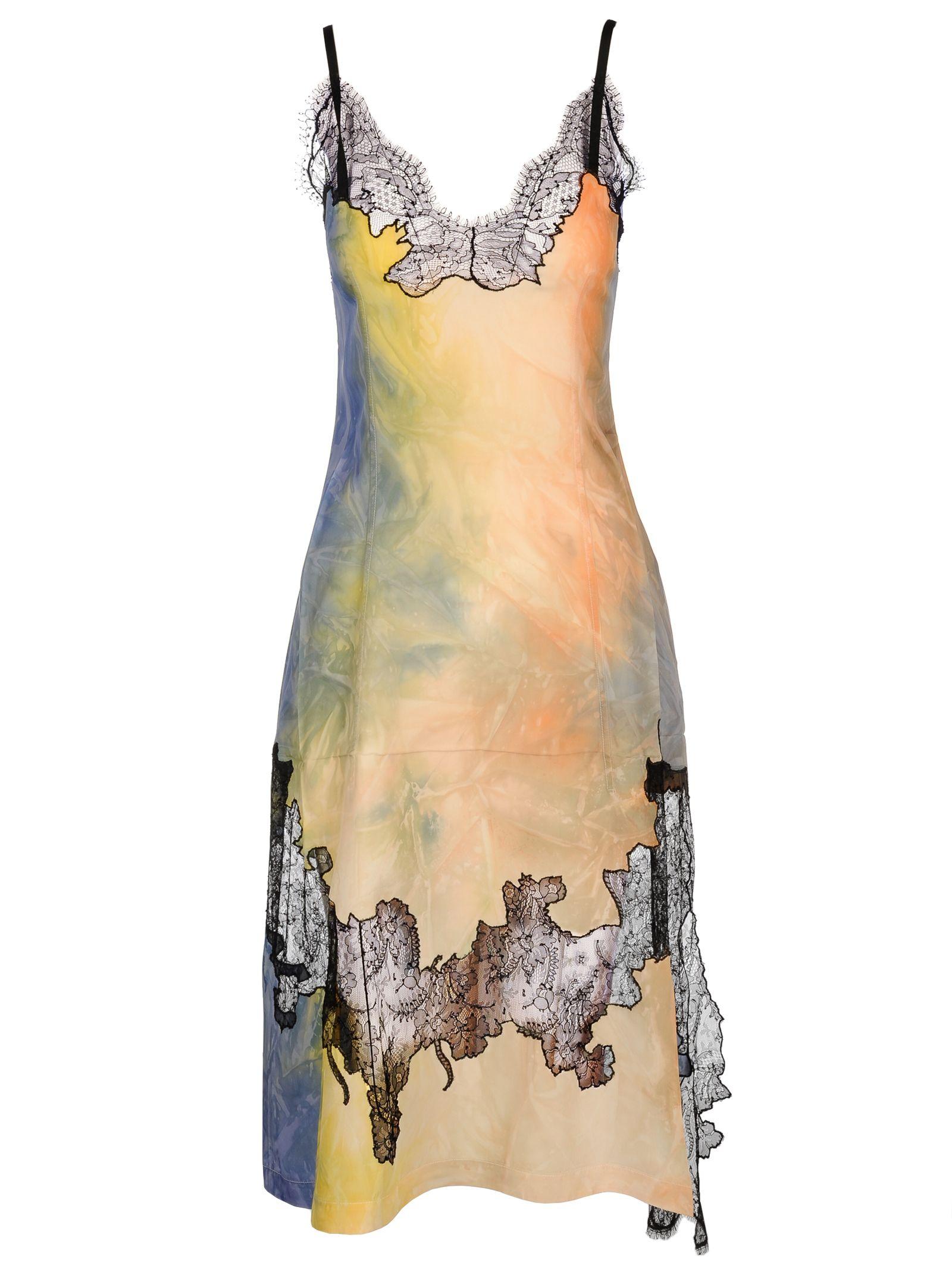 MULTICOLOURED SILK BLEND DRESS