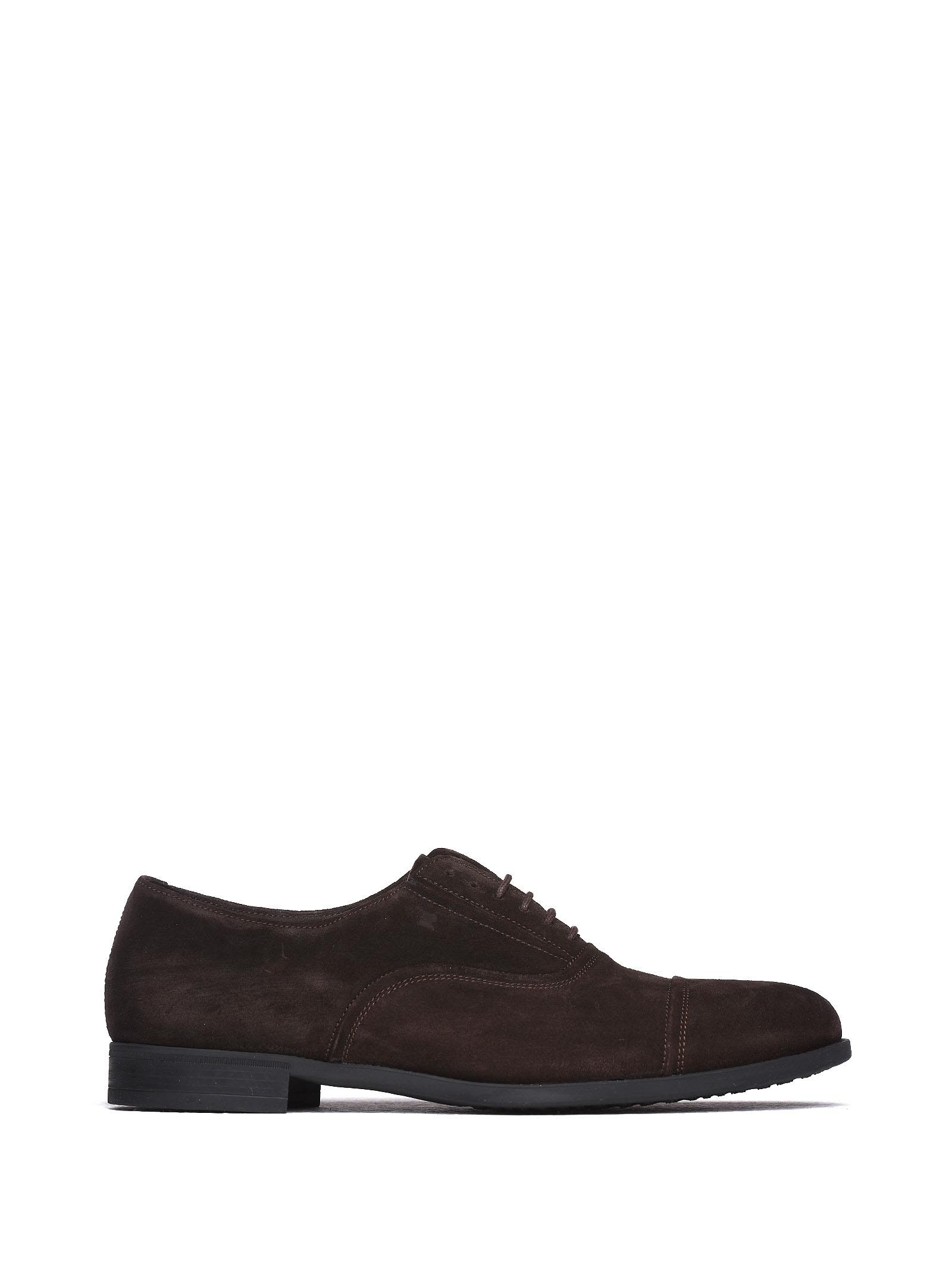 FRATELLI ROSSETTI ONE Lace-Up In Dark Brown Suede in Cacao