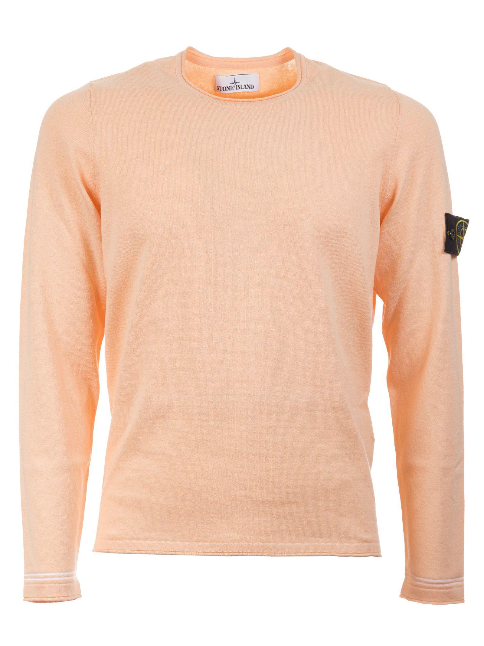 stone island stone island logo patch sweater orange men 39 s sweaters italist. Black Bedroom Furniture Sets. Home Design Ideas