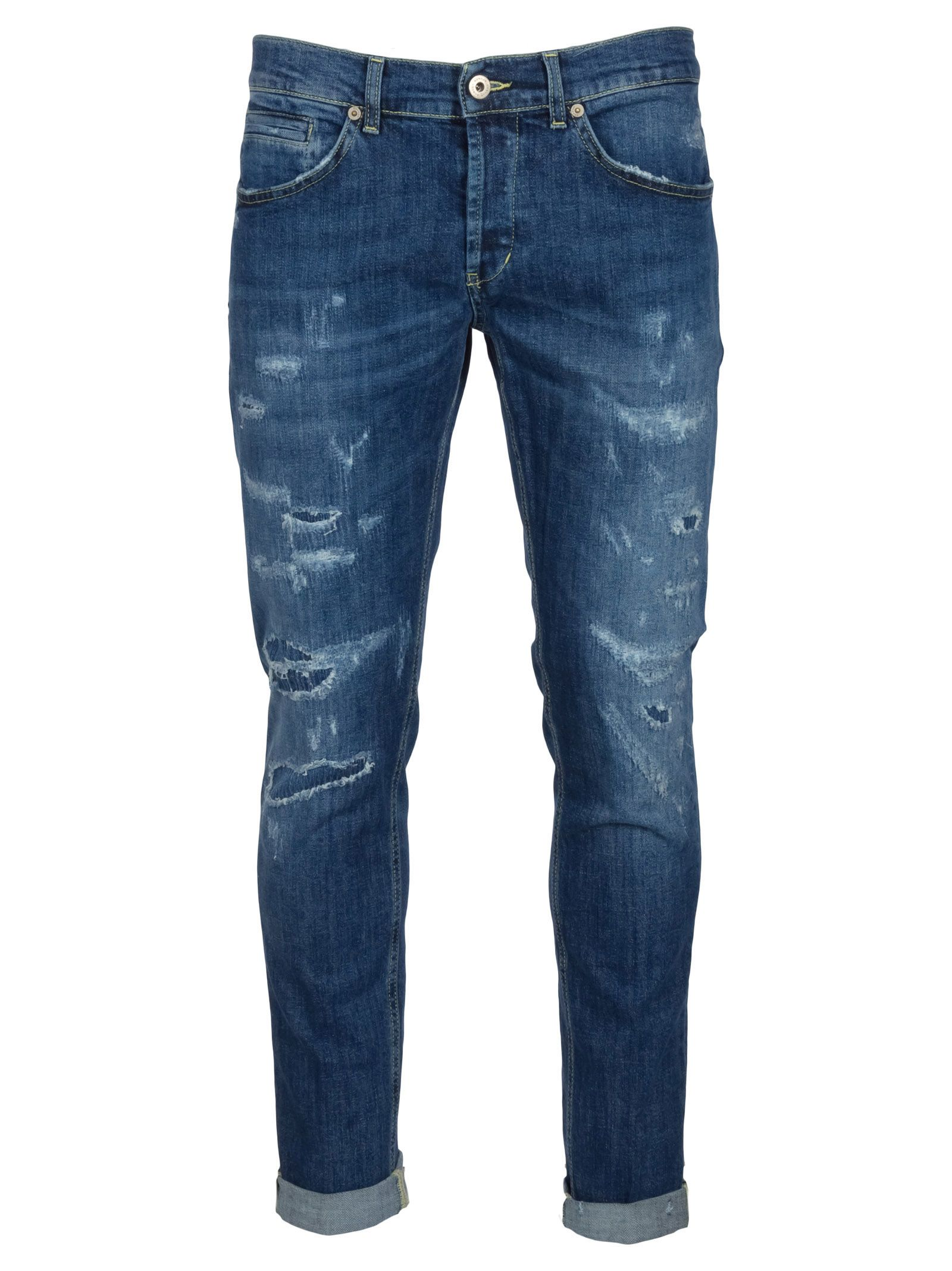 Jeans On Sale, Denim Blue, Cotton, 2017, 29 30 31 33 34 35 36 38 Dondup
