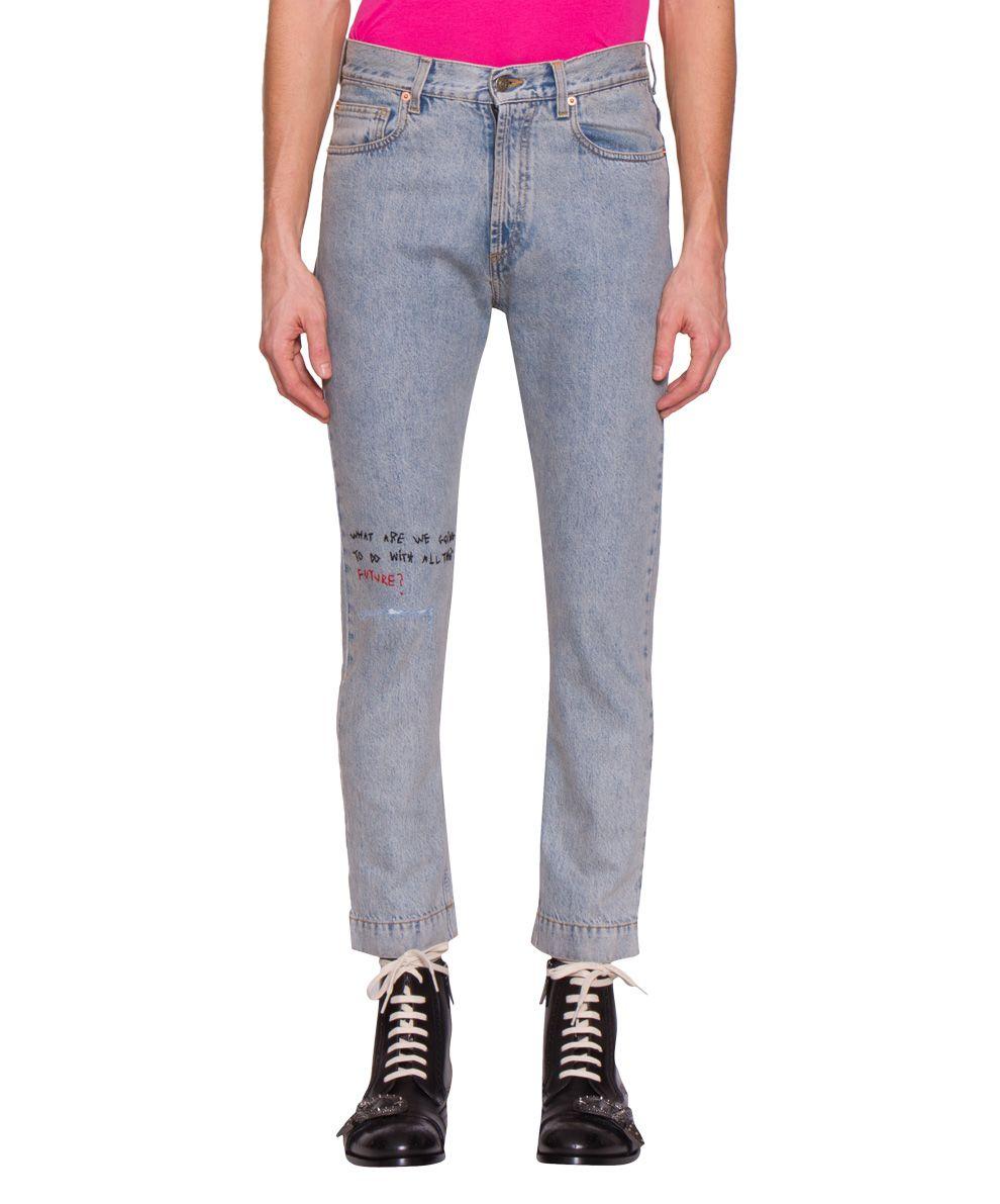 Gucci Logo Cotton Denim Jeans 10507409