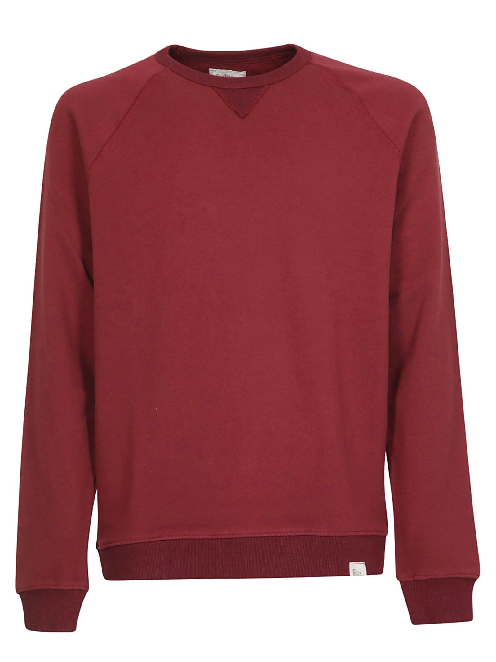 ROY ROGERS Classic Sweatshirt in Bordeaux