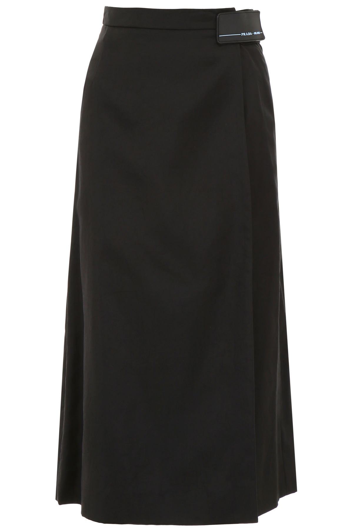 SKIRT WITH LOGO PATCH